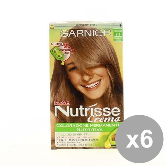Set 6 Nutrisse 81 Biondo Caramello Colorazioni Per Capelli