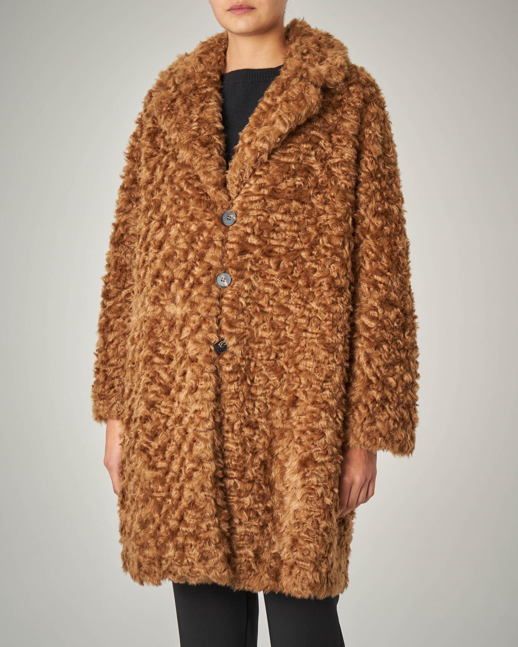 Cappotto cammello linea a ovetto