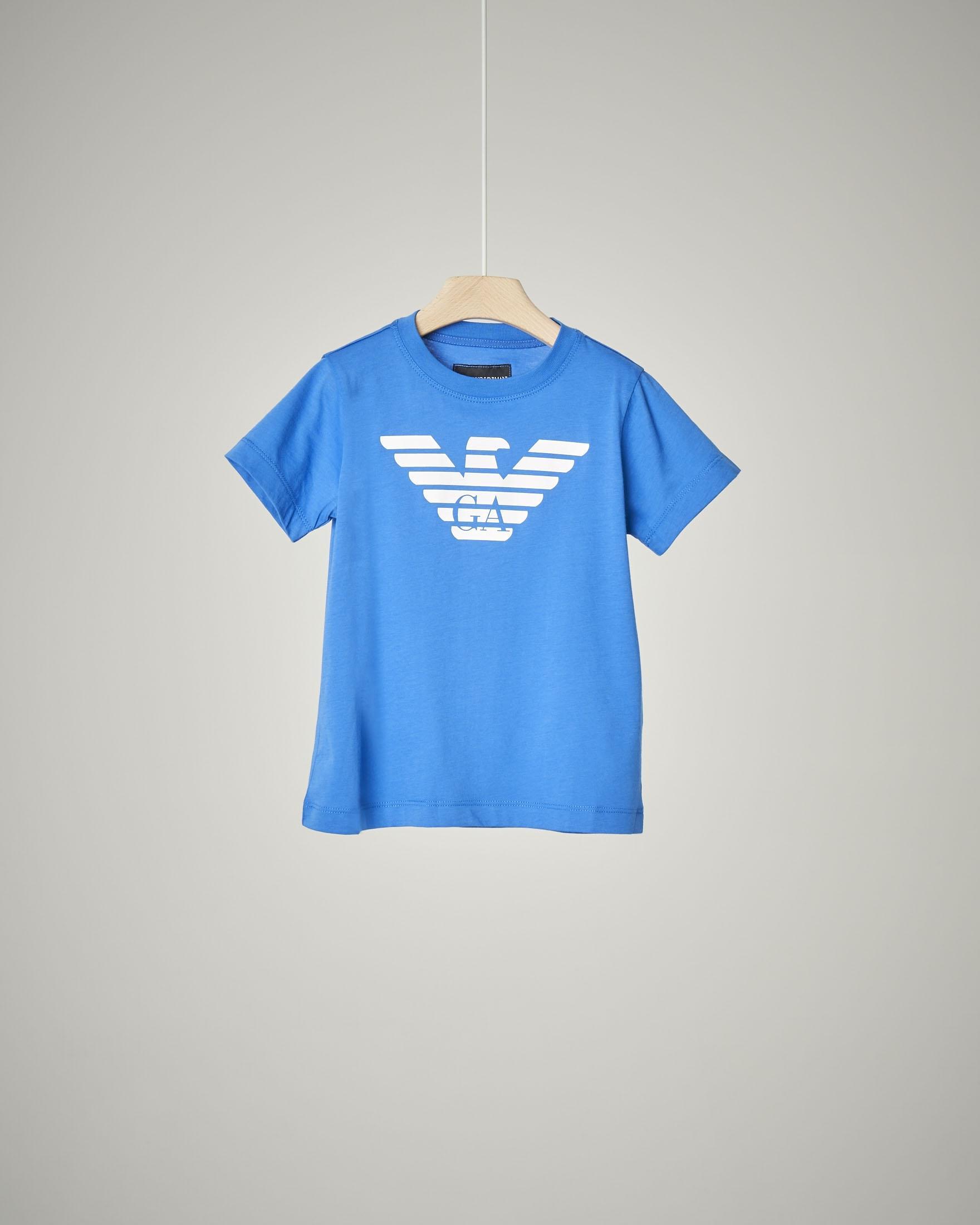 T-shirt bluette a manica corta