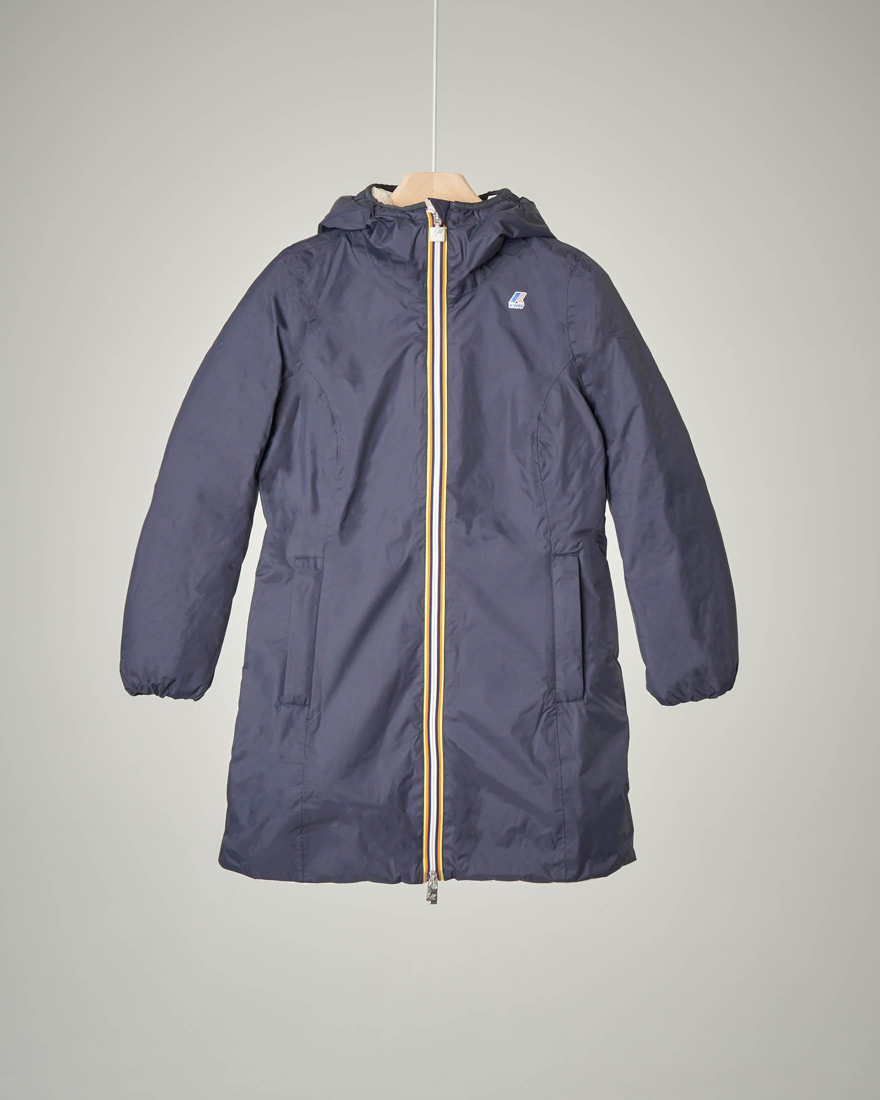 Giaccone blu/beige reversibile