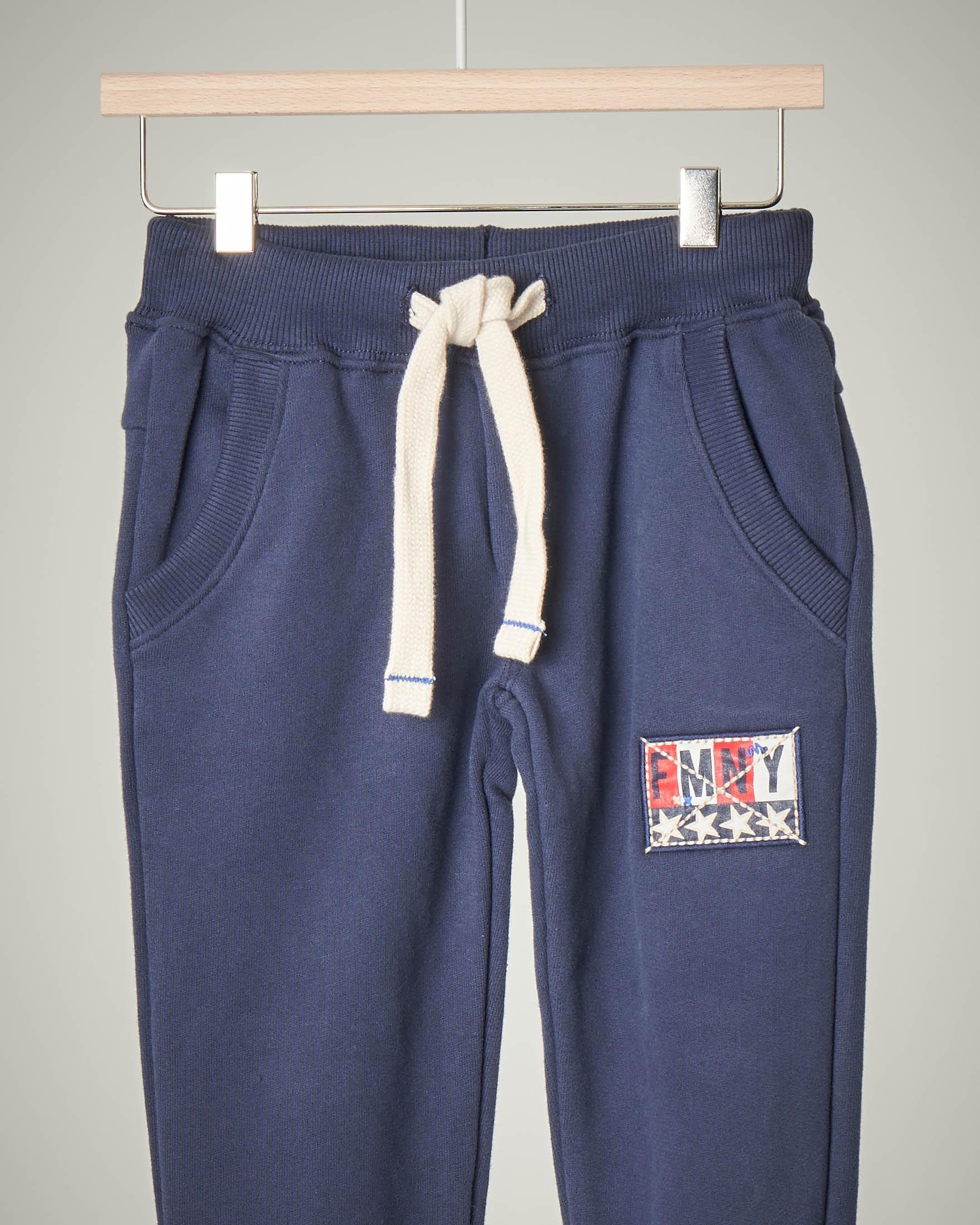 Pantalone blu felpa 2-7 anni