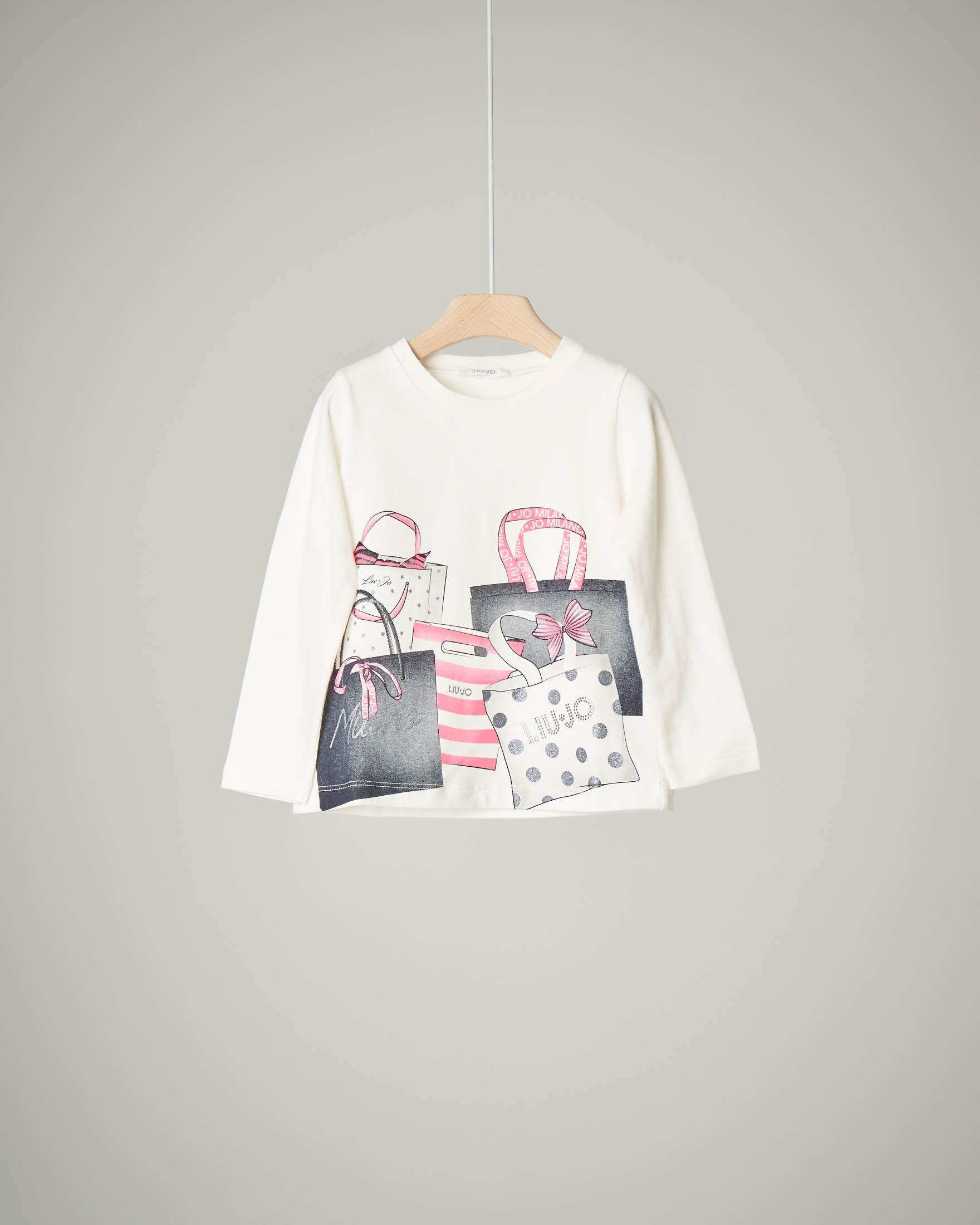 T-shirt bianca  shoppers
