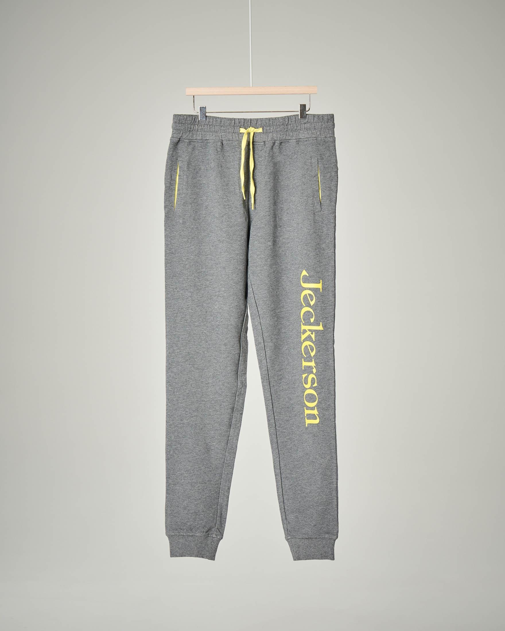 Pantalone grigio scuro in felpa 34-42