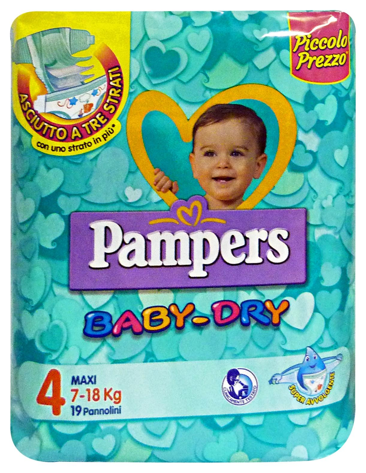 Image of PAMPERS Baby-dry 4 7-18 kg.X19 pz. - Linea bimbo