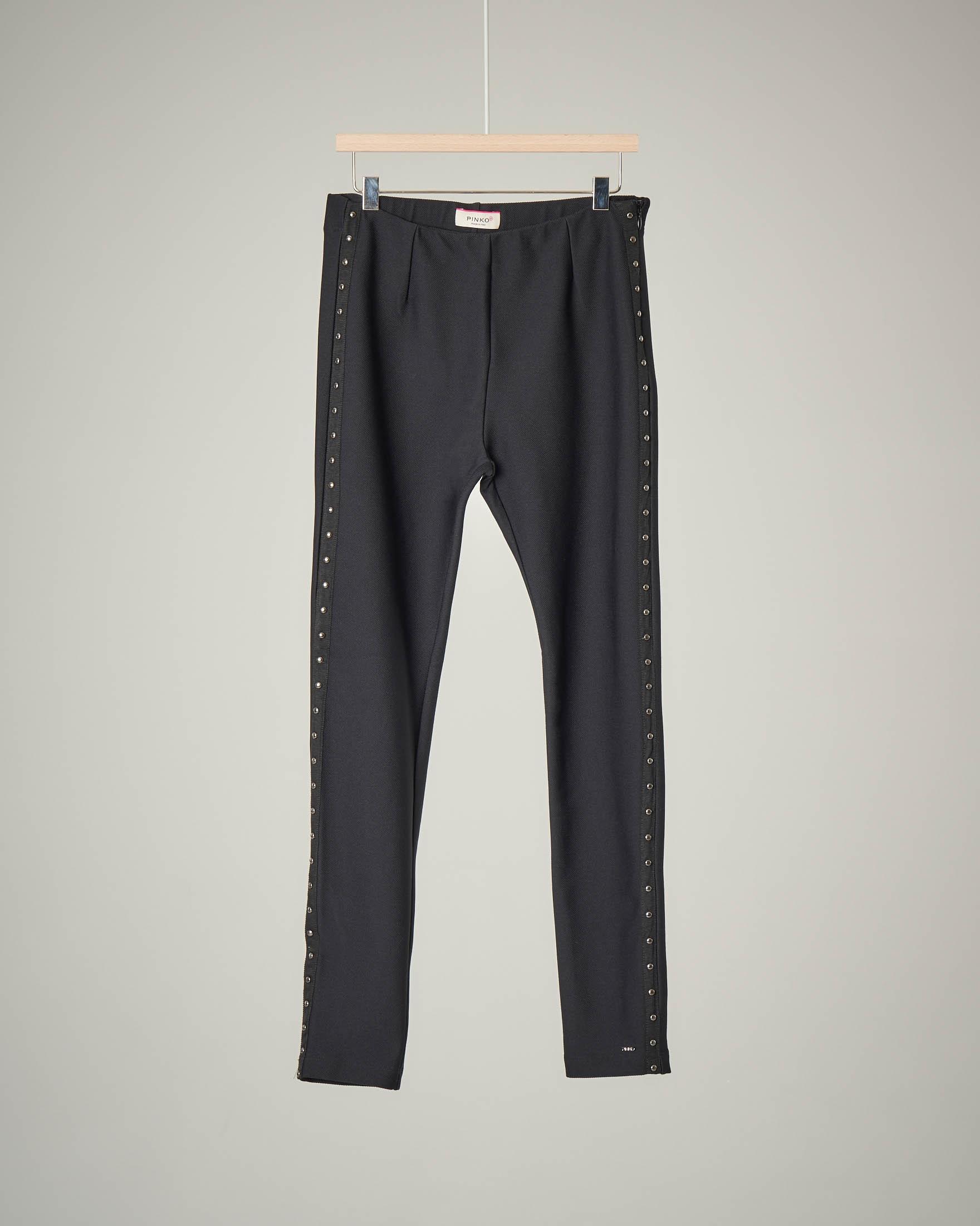 Pantalone nero borchie
