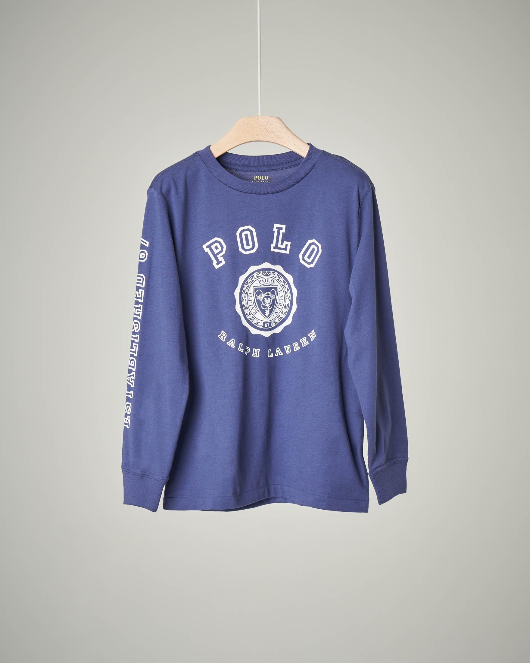 T-shirt  blu stemma