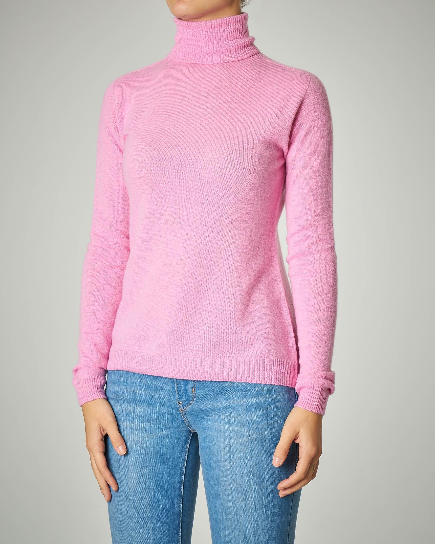 Dolcevita rosa in lana misto cashmere