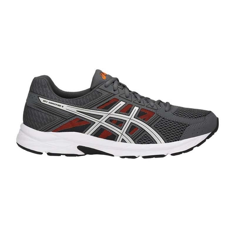 the best attitude ca08e 8d3c4 SCARPE ASICS GEL CONTEND 4 RUNNING T715N-9793 CARBON/SILVER/SHOCKING ORANGE
