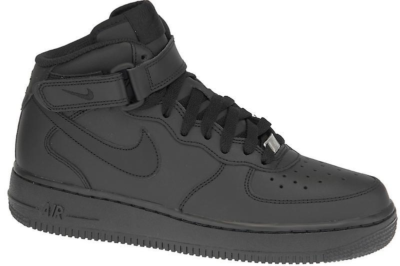 9ad7c44d0e6 SNEAKERS NIKE AIR FORCE 1MID (GS) BLACK BLACK 314195-004 - Sery Sport