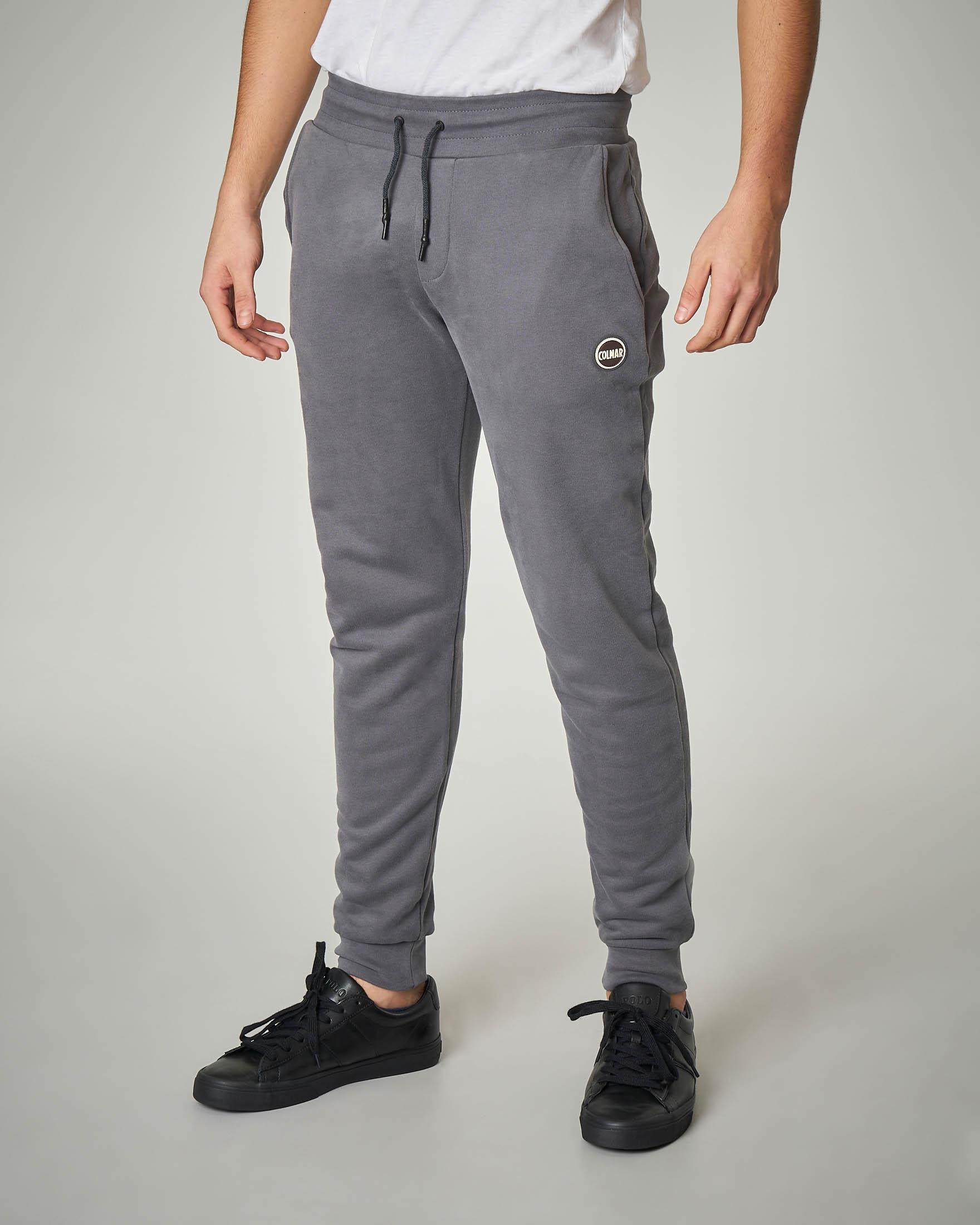Pantalone grigio scuro in felpa