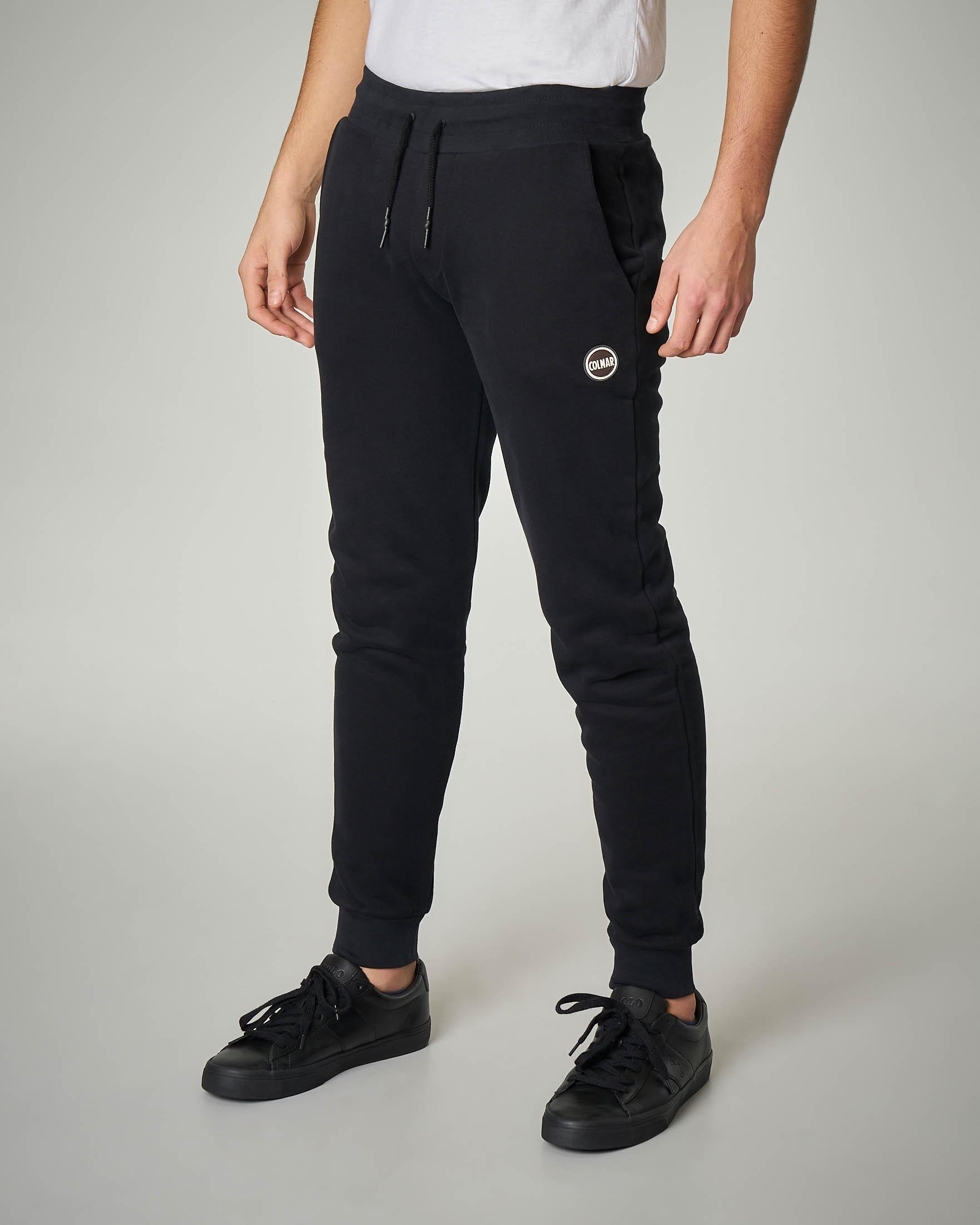 Pantalone nero in felpa