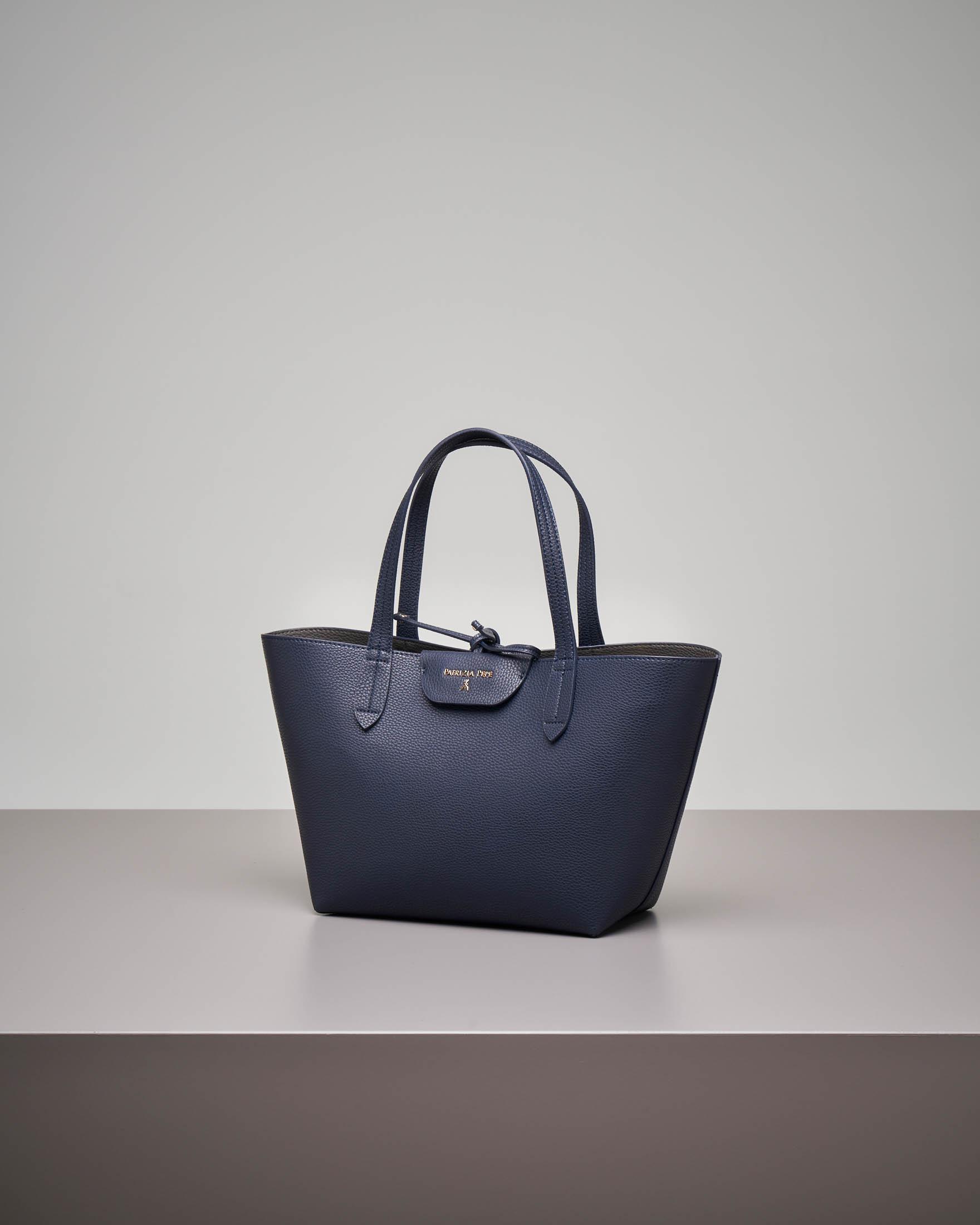 Shopping bag reversibile blu misura piccola