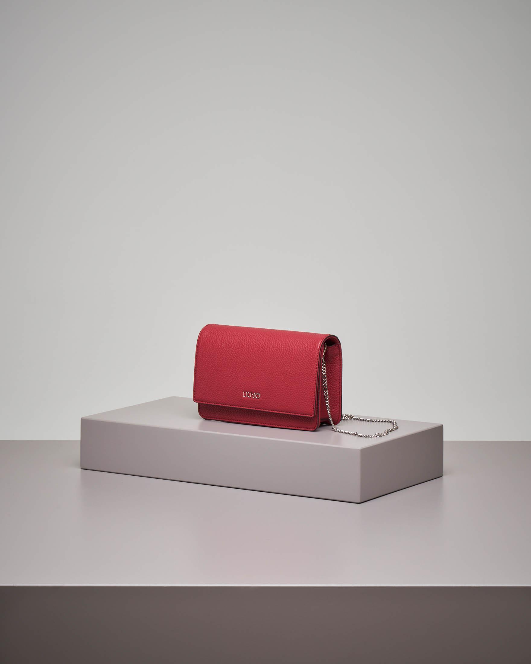 Cross bag rossa con patta