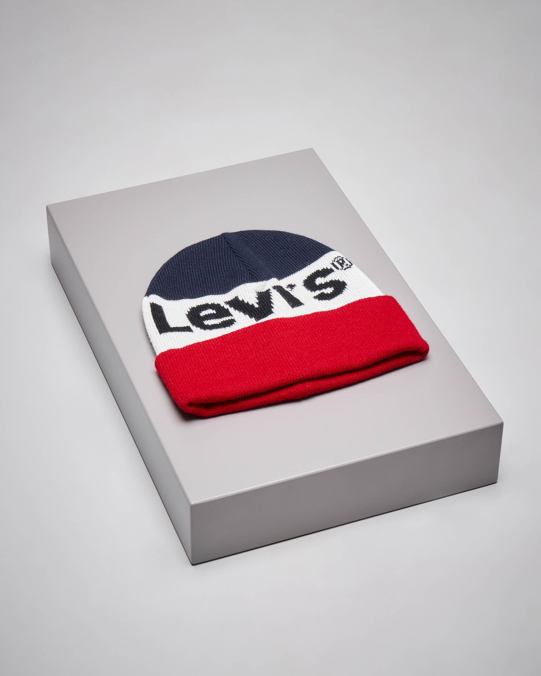 Berretto in maglia color block