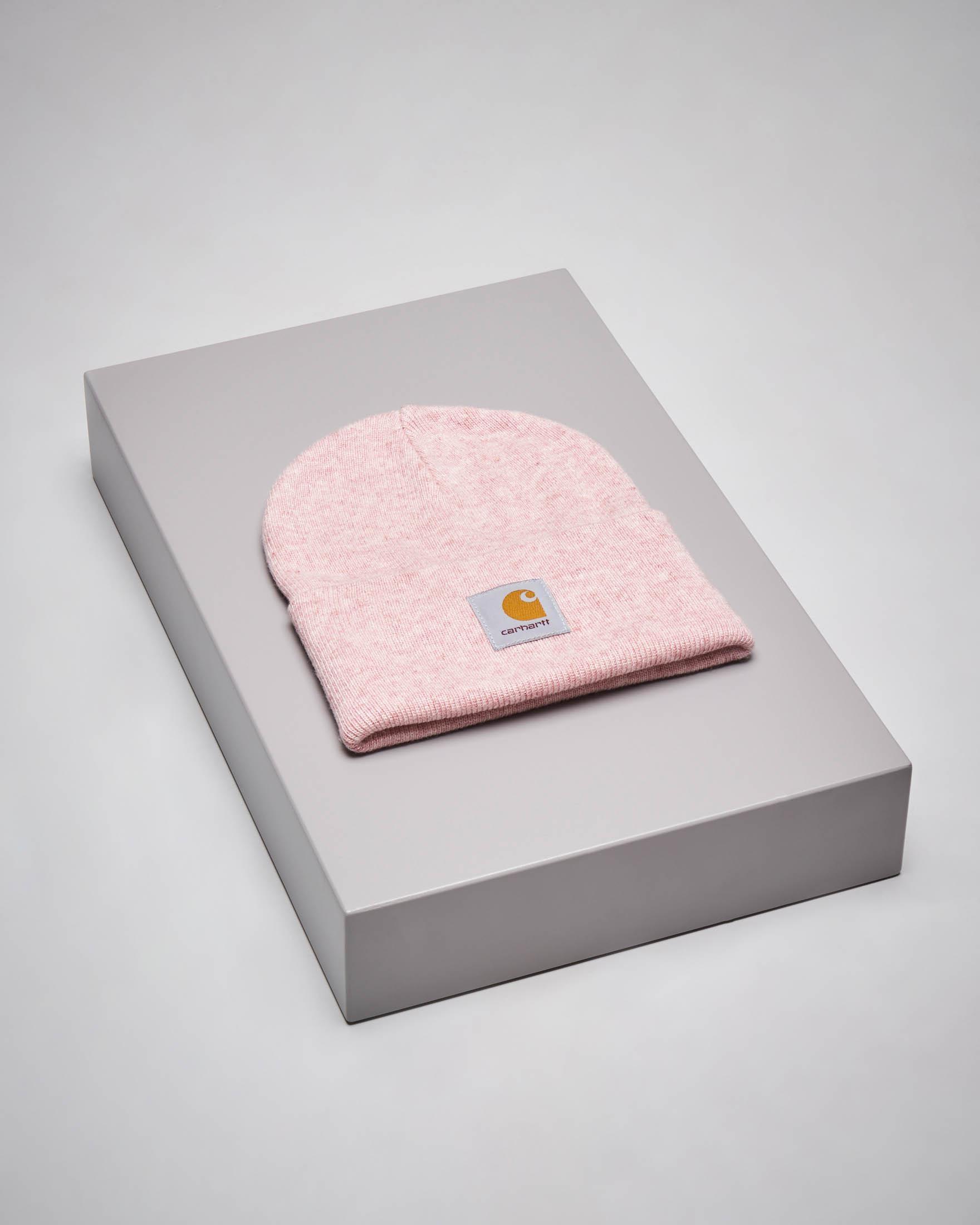 Berretto rosa melange con logo