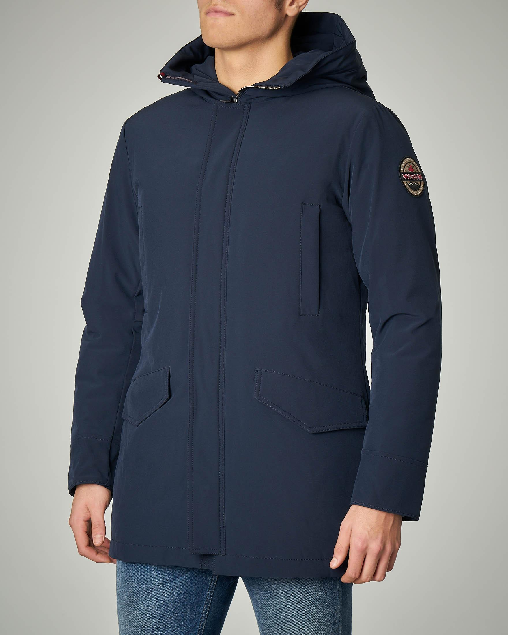 Parka blu in Soft Shell