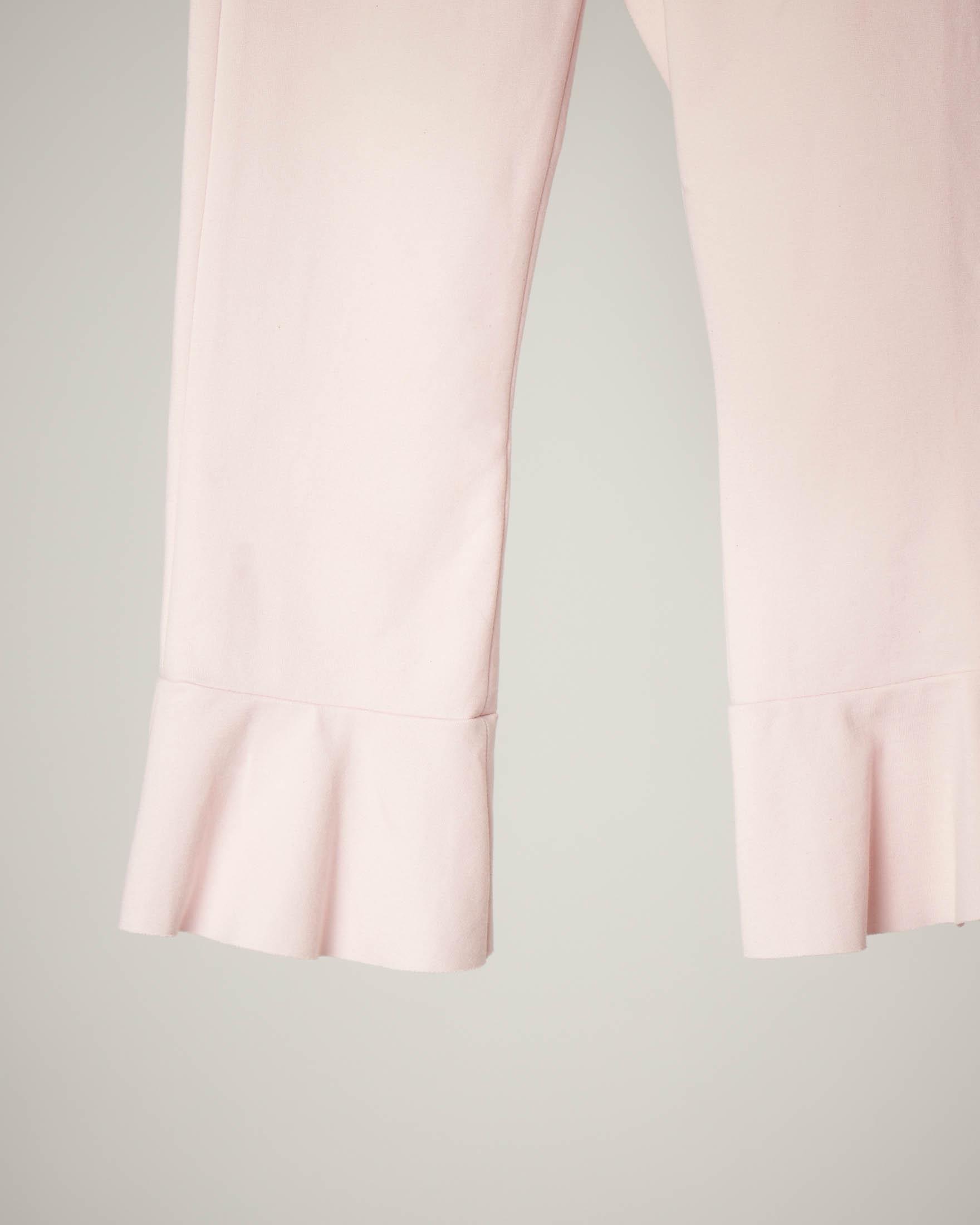 Pantalone rosa fondo volano 3-7 anni