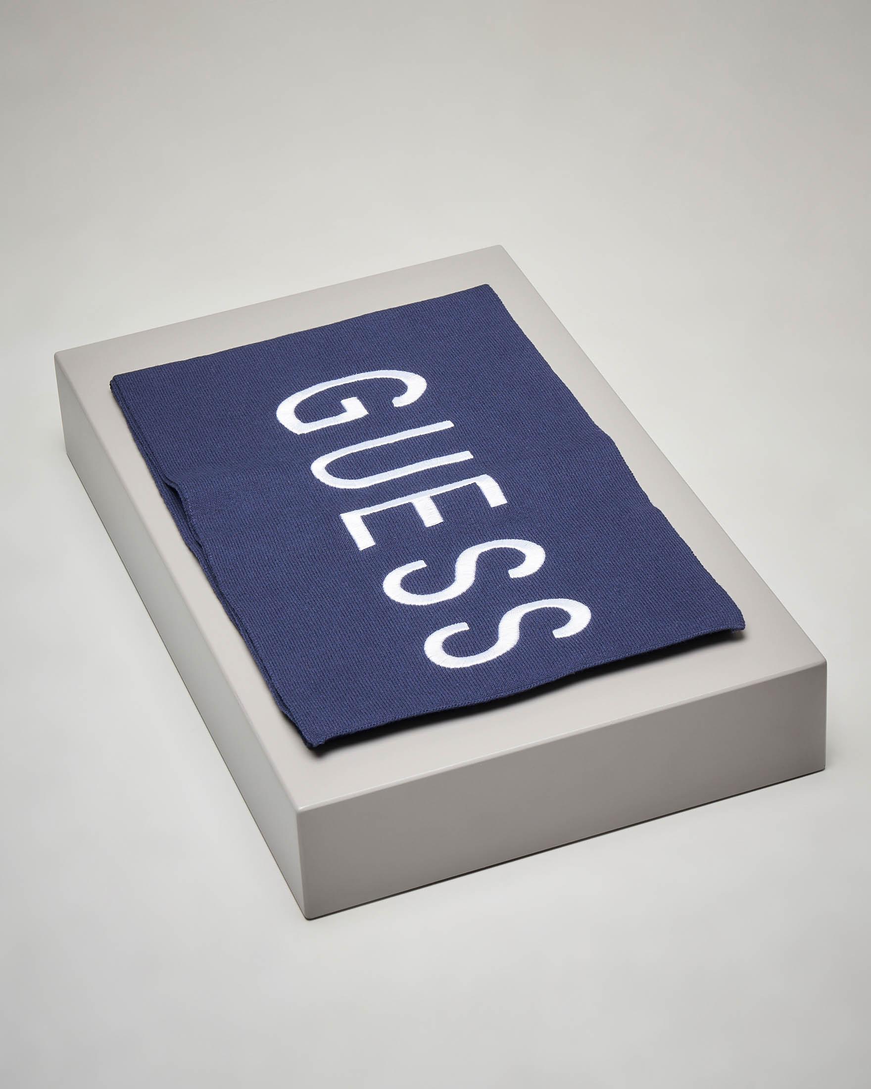 Sciarpa blu maxi logo