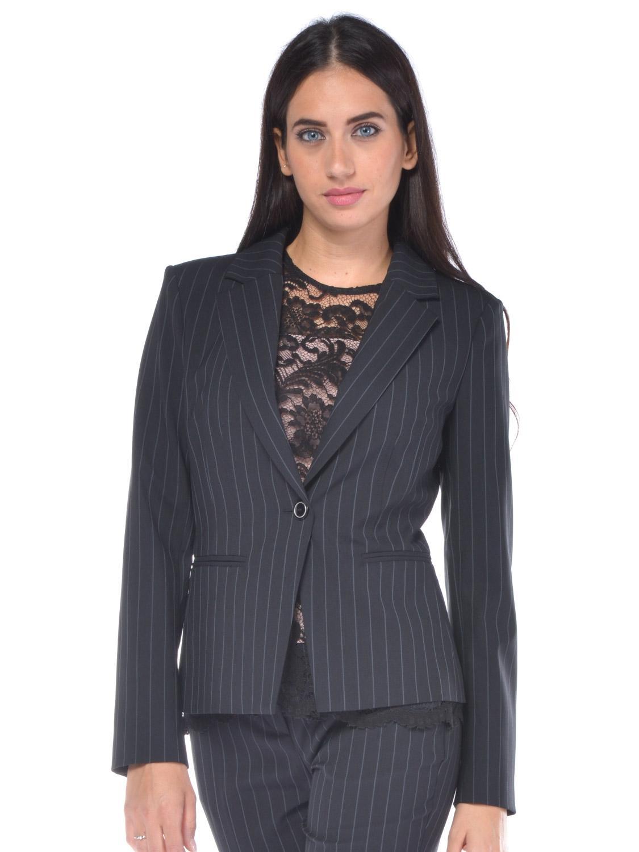Giacca donna Pinko in lana effetto gessato grigio - RoncaStyle 59b2d9e692c