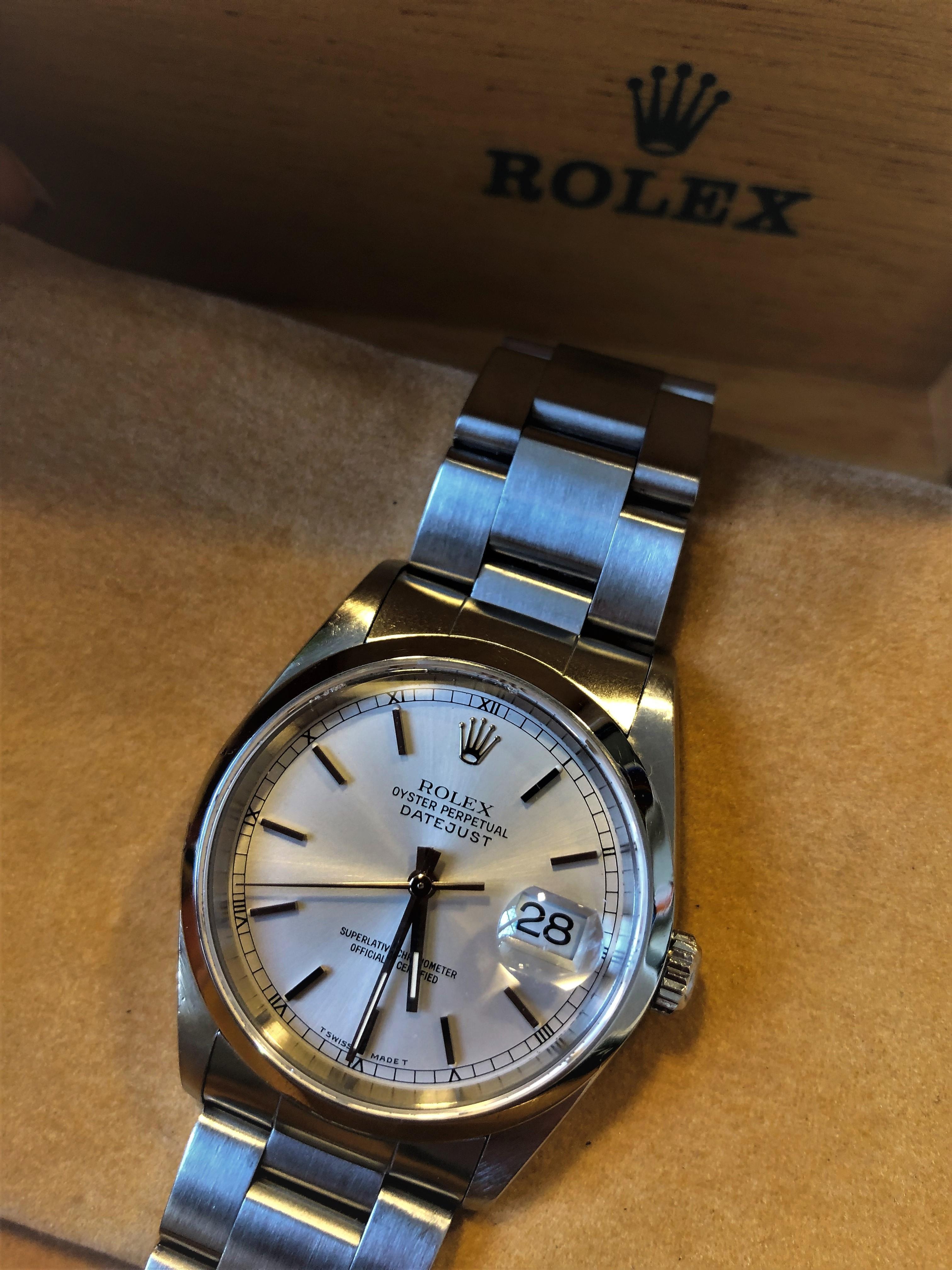 rivenditore all'ingrosso 487e4 e55ef Orologio secondo polso Rolex Datejust