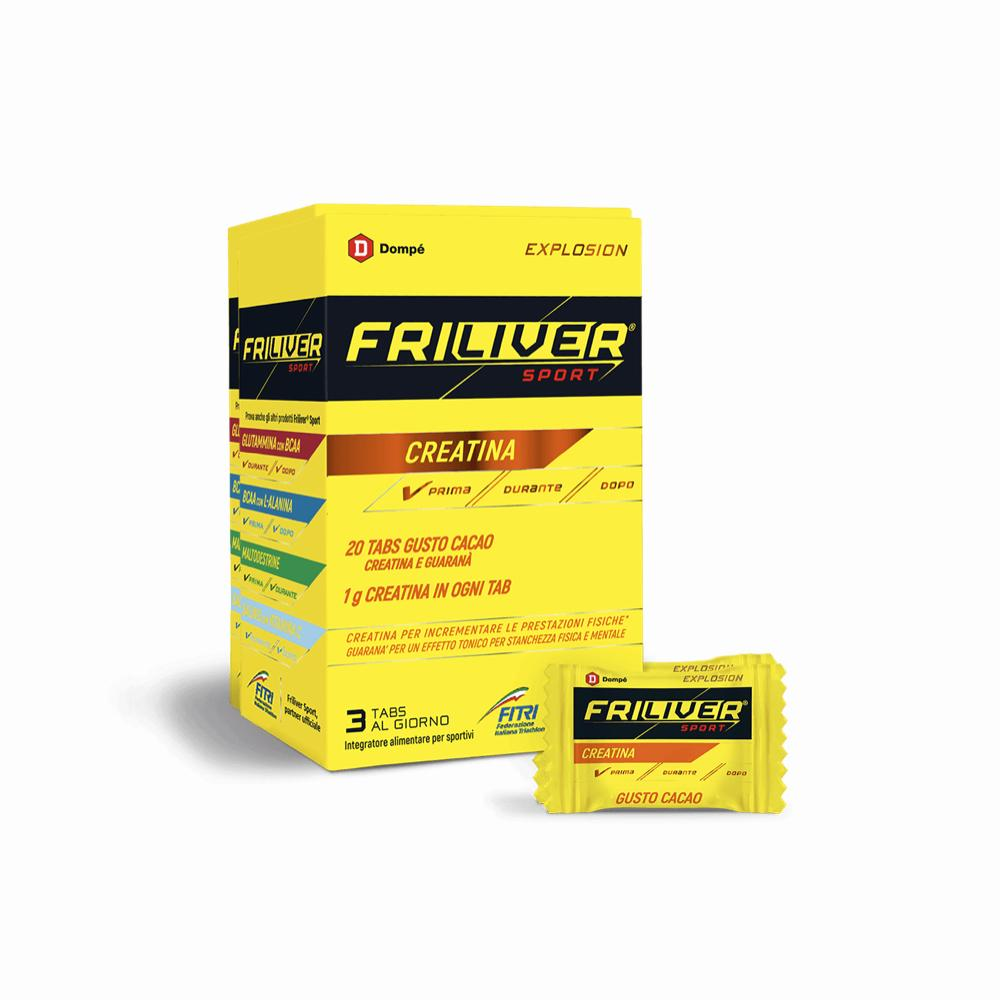 FRILIVER SPORT ENERGY - INTEGRATORE IN TAVOLETTE DI GUARANA' E CREATINA