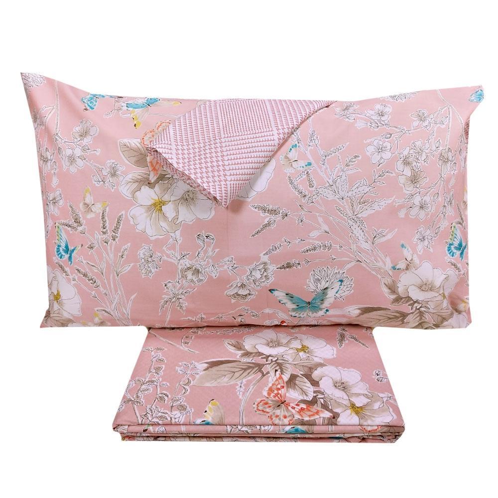 Copripiumino Fazzini.Fazzini Duvet Cover Set Maxi Double Valeria Pink Floral