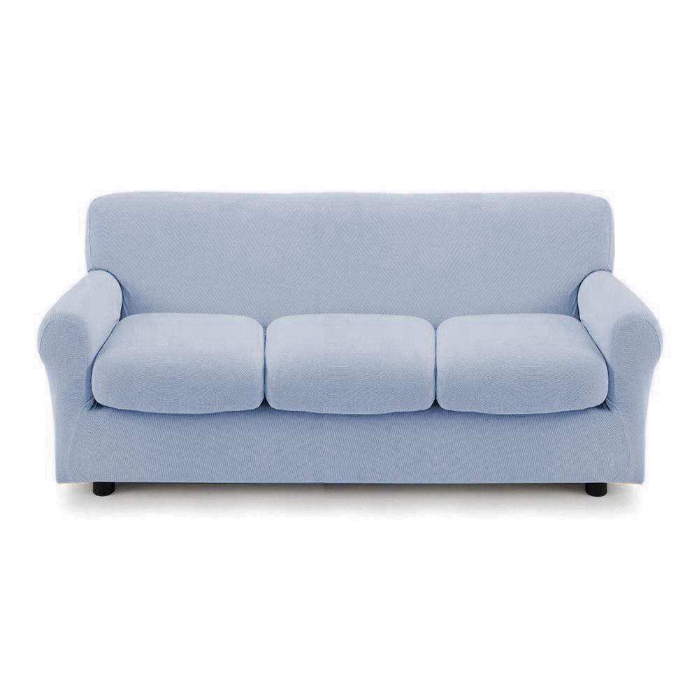 Cuscino Alla Francese Ikea copridivano 3 posti con 3 cuscini copri divano zapping zucchi grigio  celestiale