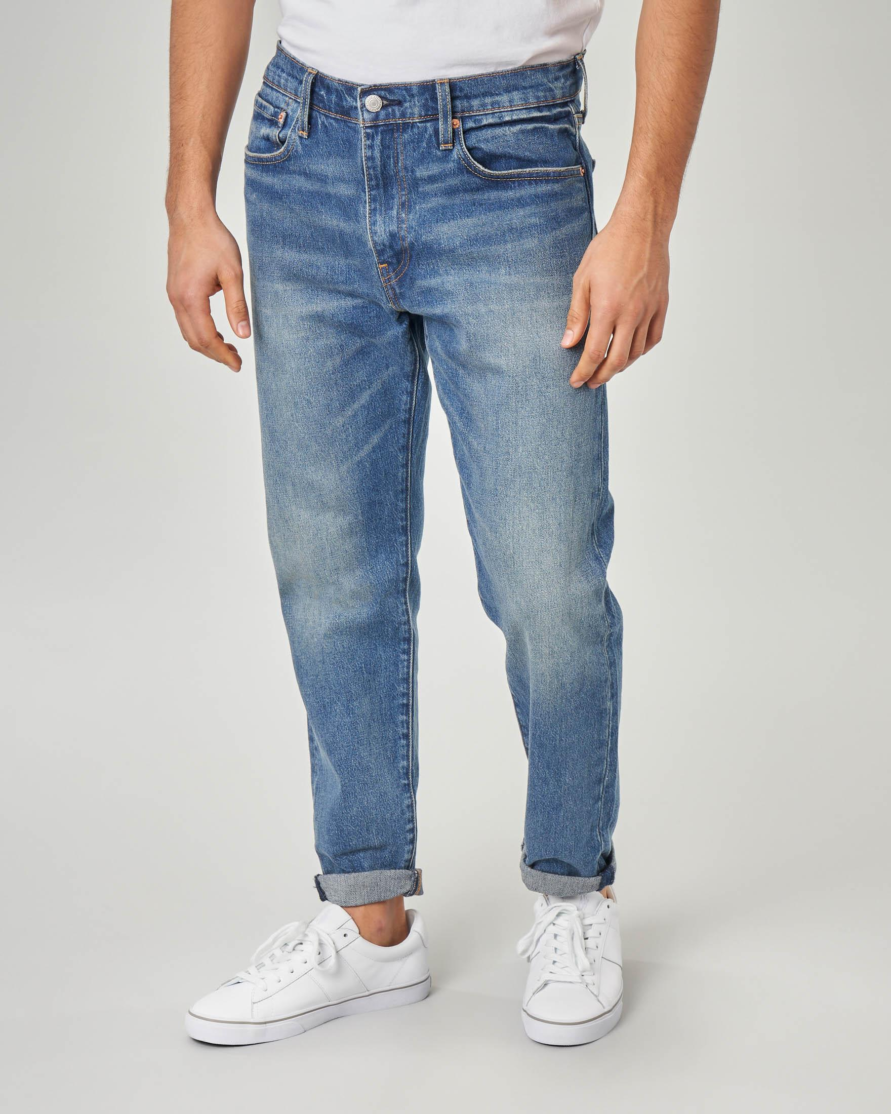Jeans Hi-Ball tapered lavaggio stone wash