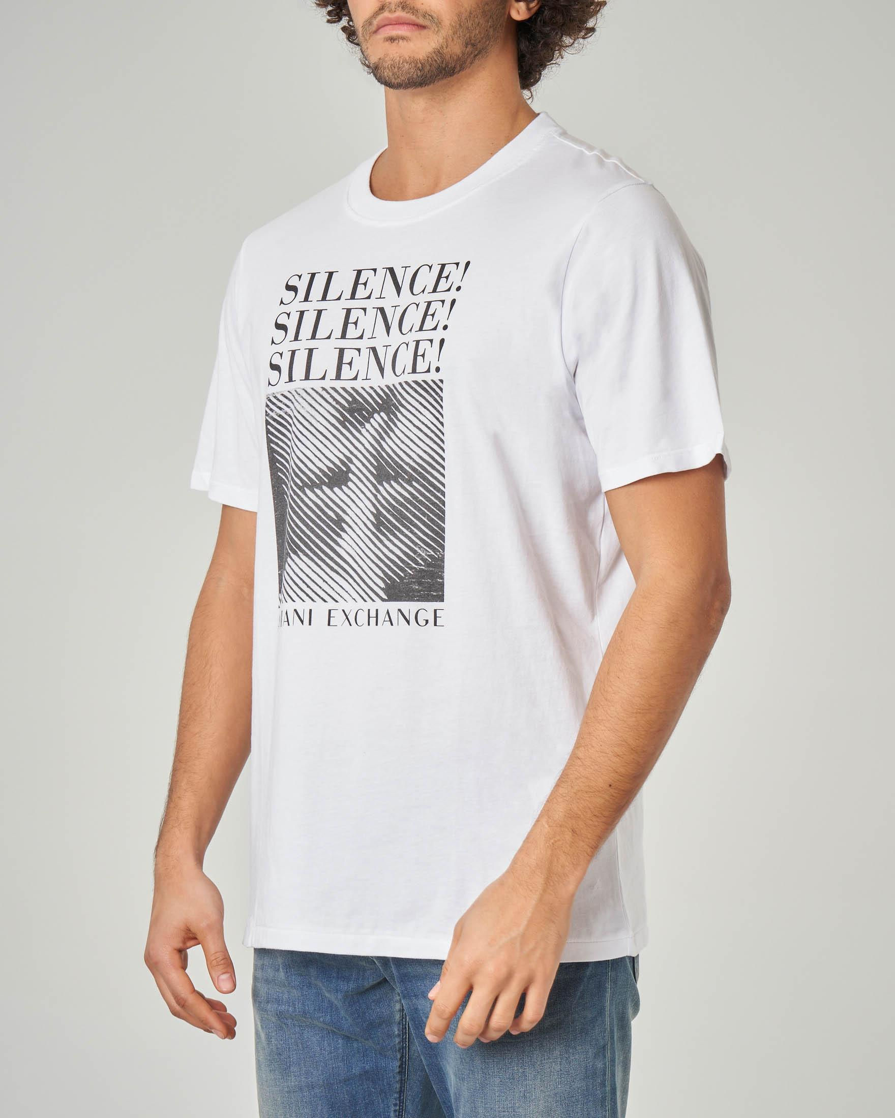 T-shirt bianca con stampa e scritte