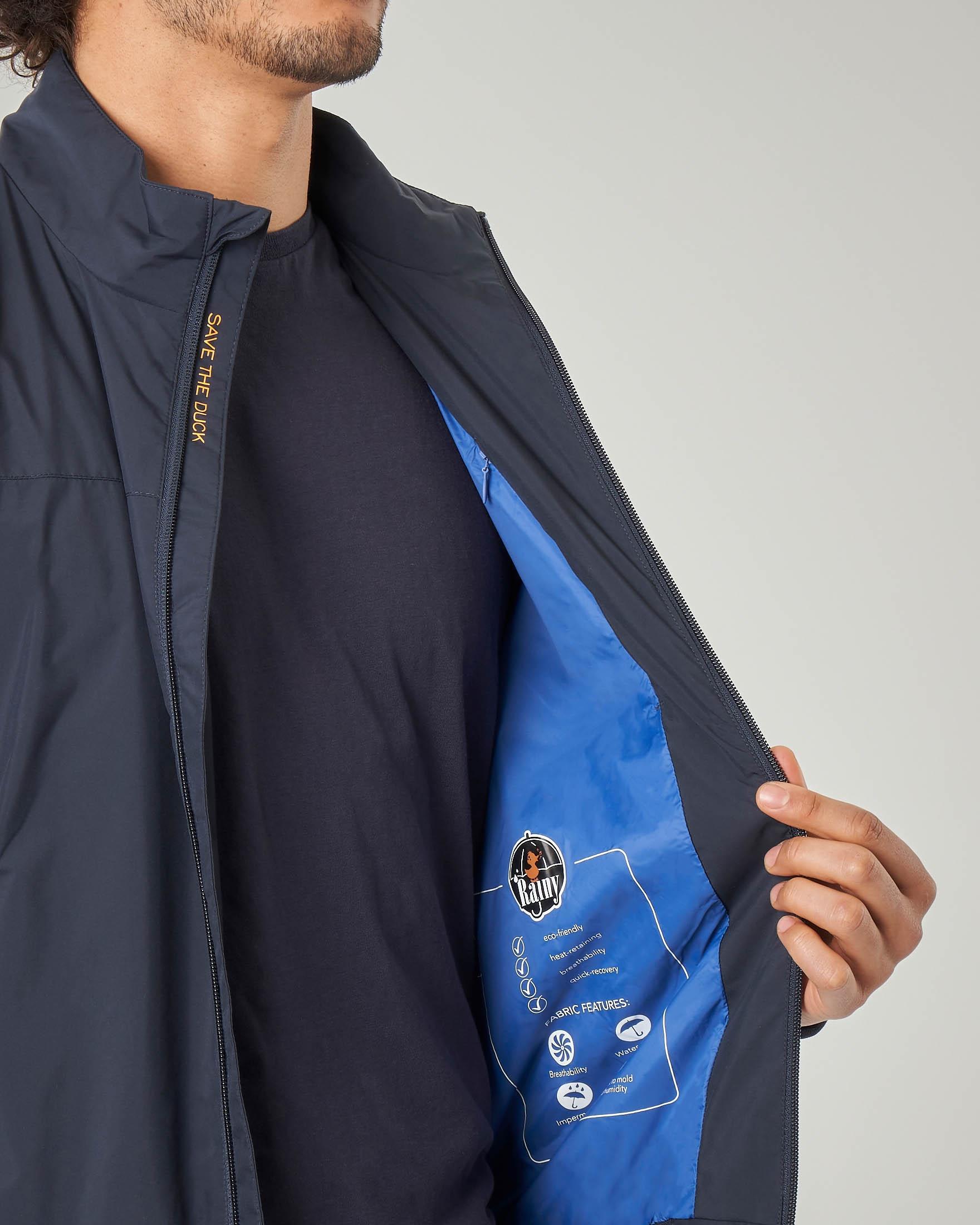 Giacca sailor blu con logo bollo sulla manica