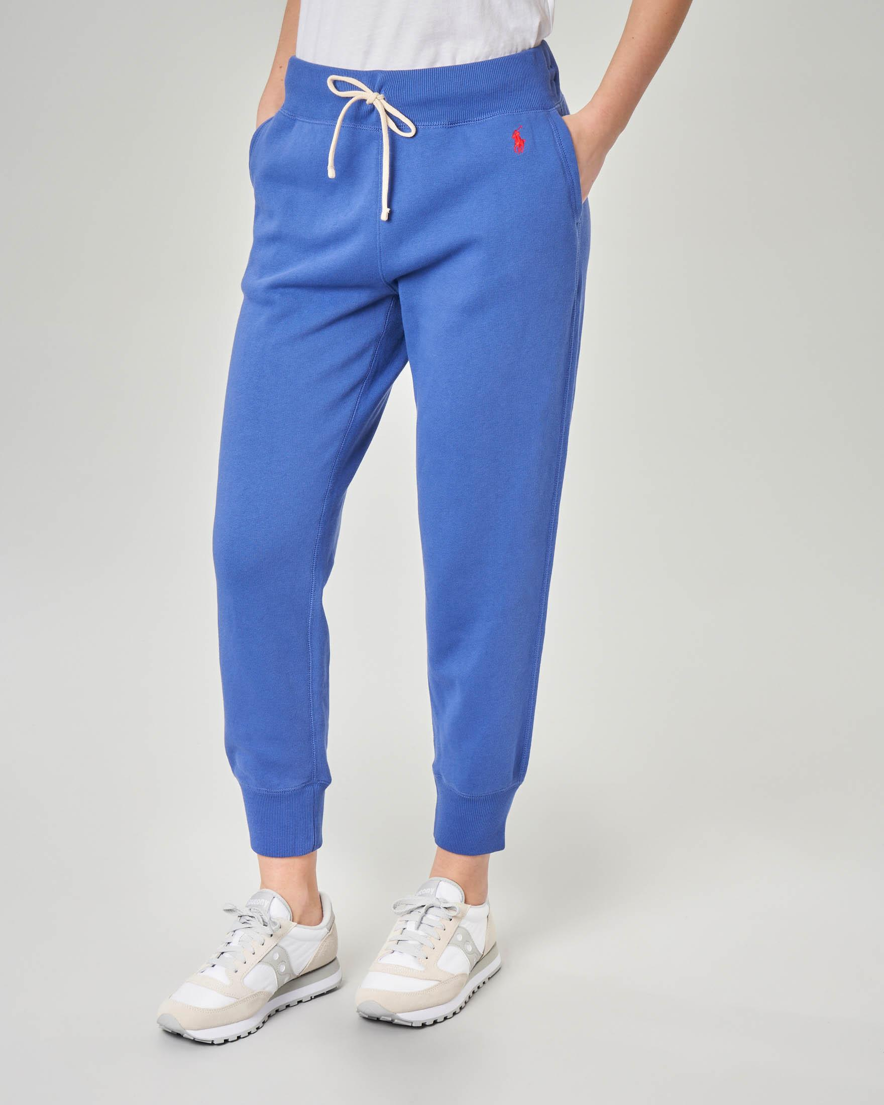 Pantaloni in felpa blu royal
