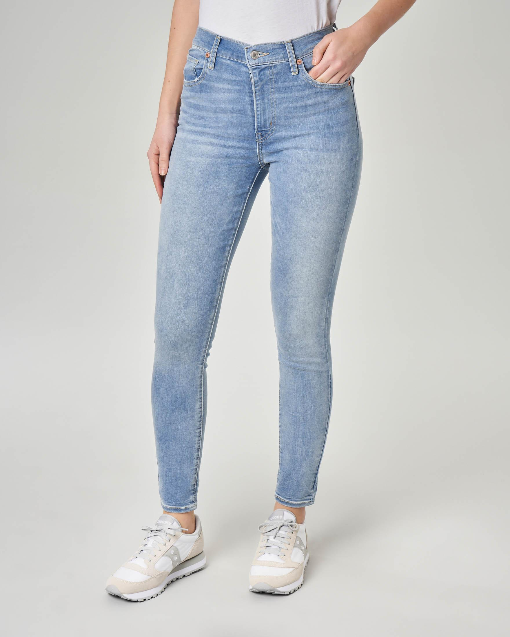 Jeans super skinny a vita alta