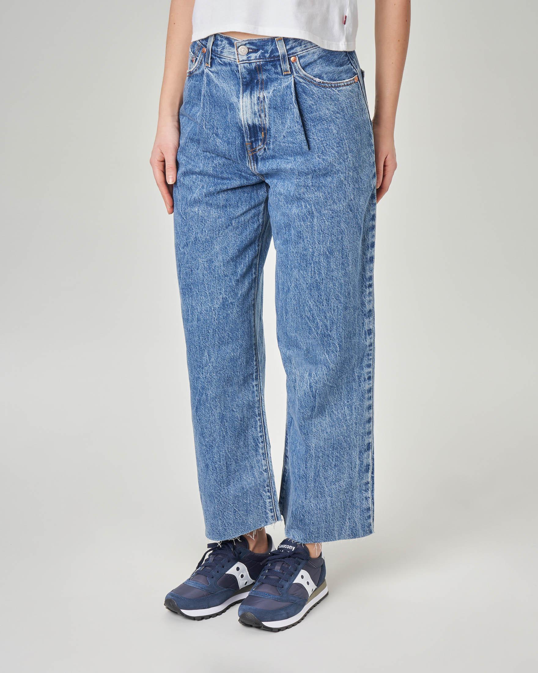 Jeans Ribcage flare con pince in vita