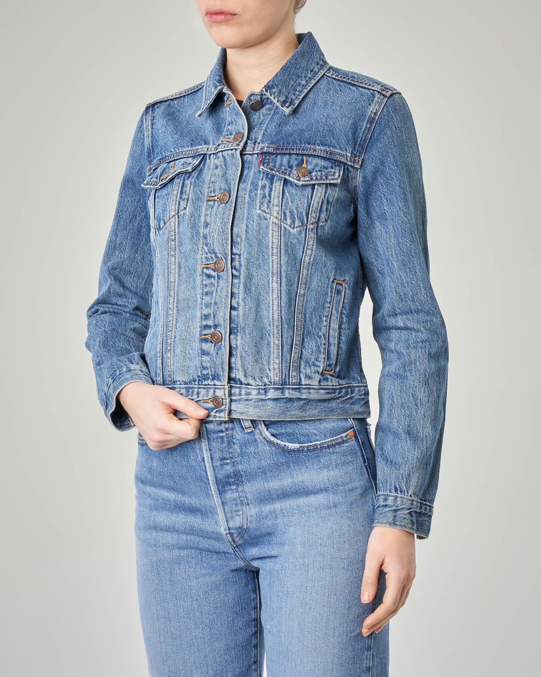 Giubbino in jeans blu