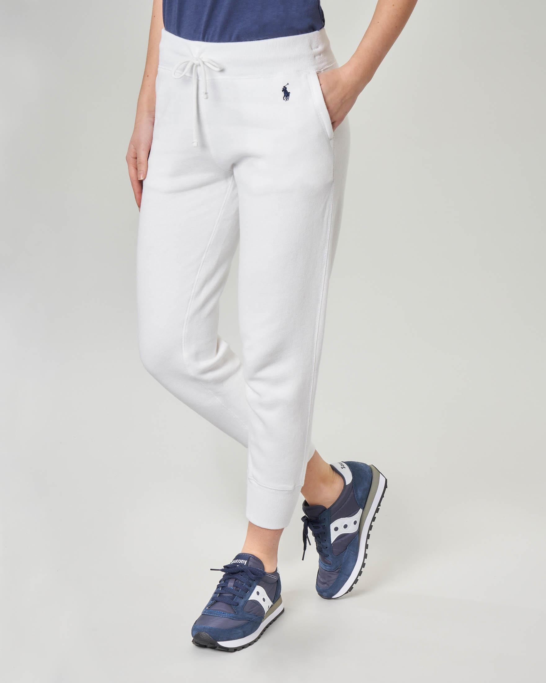 Pantaloni in felpa bianca