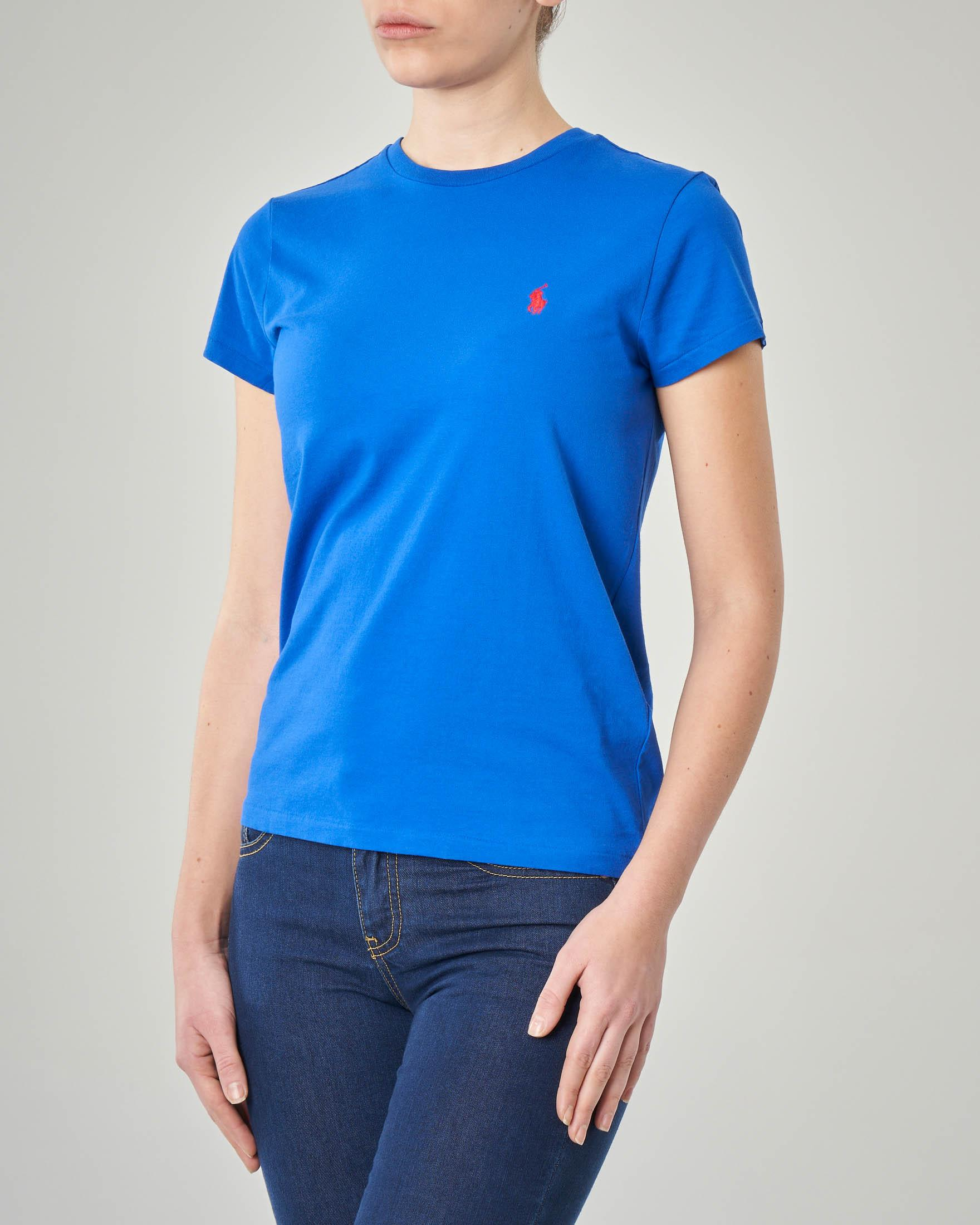 T-shirt blu royal manica corta