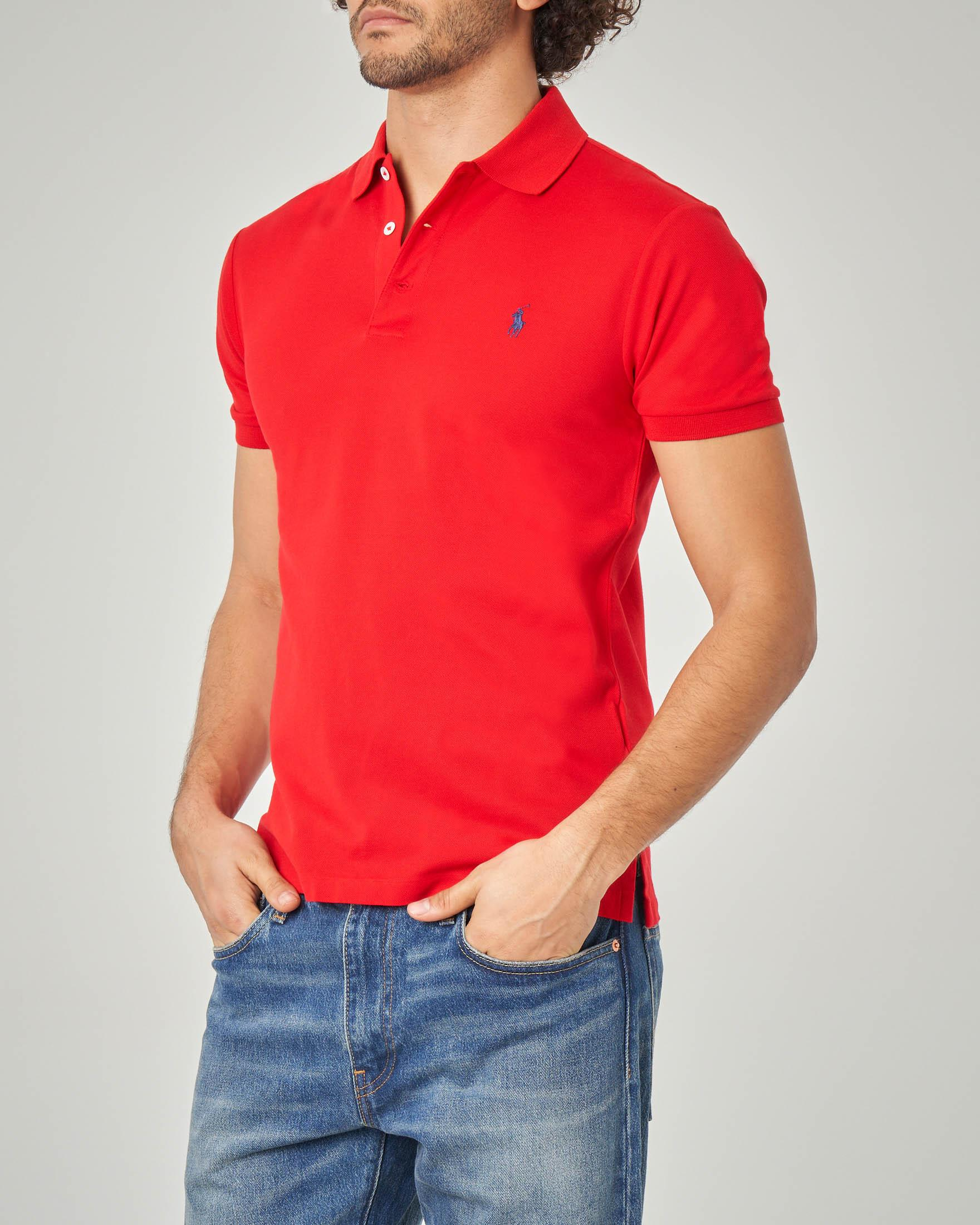 Polo rossa stretch slim-fit
