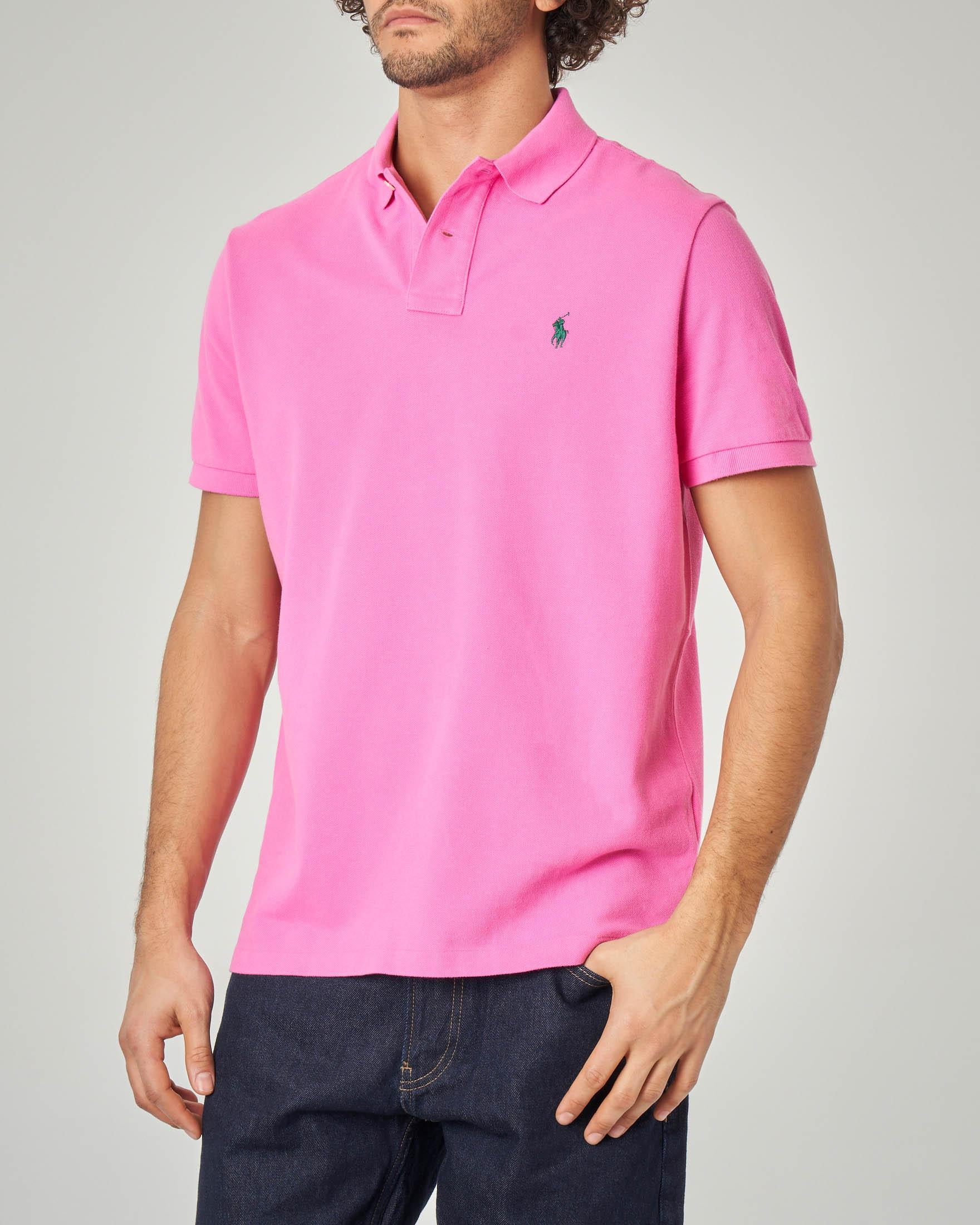 Polo fucsia custom slim-fit