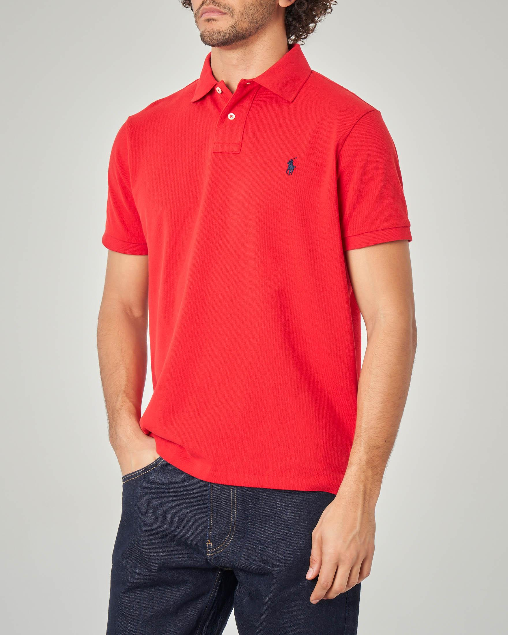 Polo rossa custom slim-fit