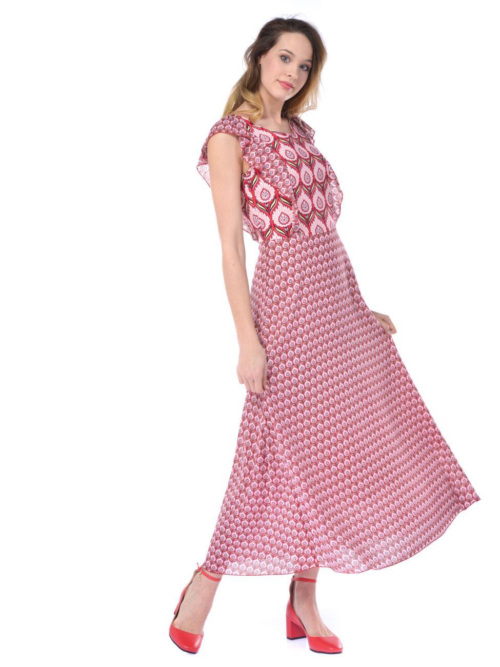 9a7da682a340 Abito lungo donna Silvian Heach con fantasia rosa - RoncaStyle