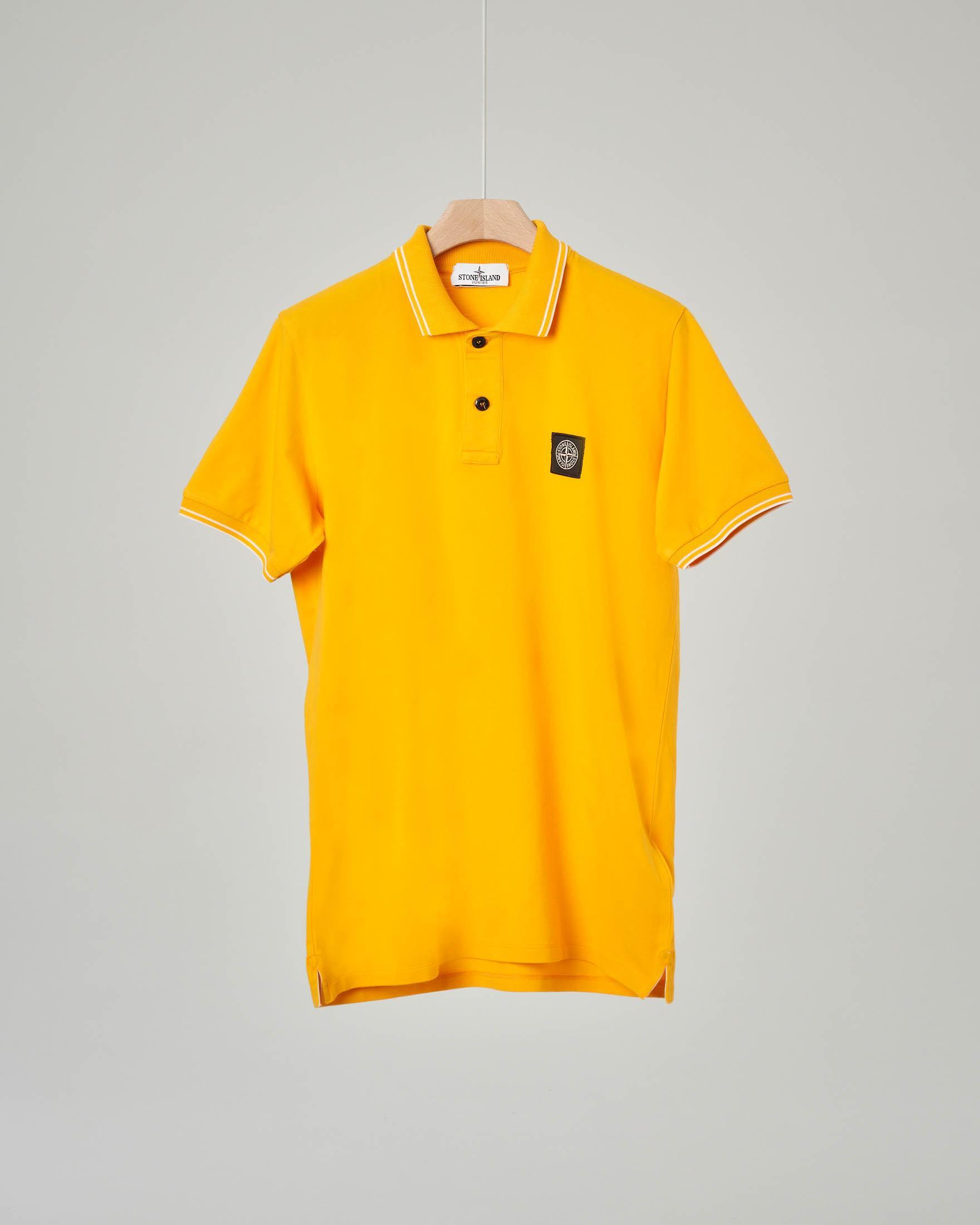 Polo gialla con bordino 8 anni