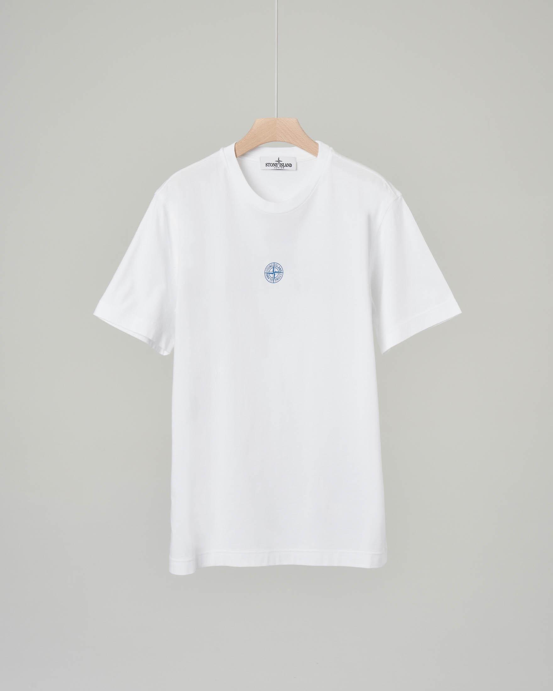 T-shirt bianca con maxi-logo sulla schiena 8 anni