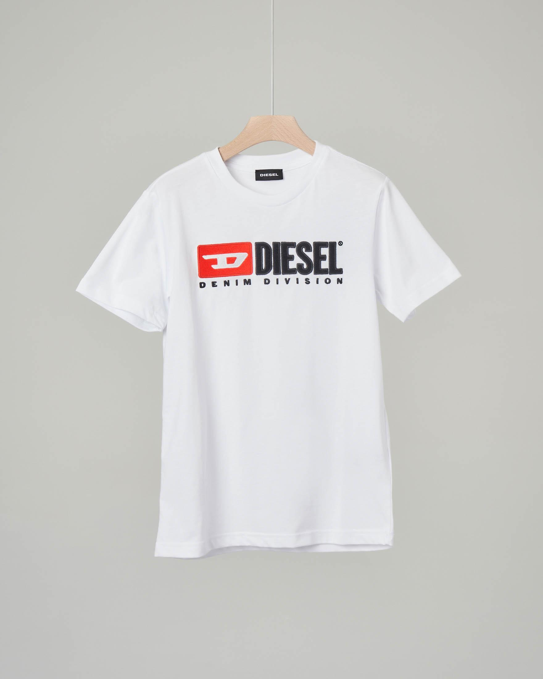 T-shirt bianca con logo vintage