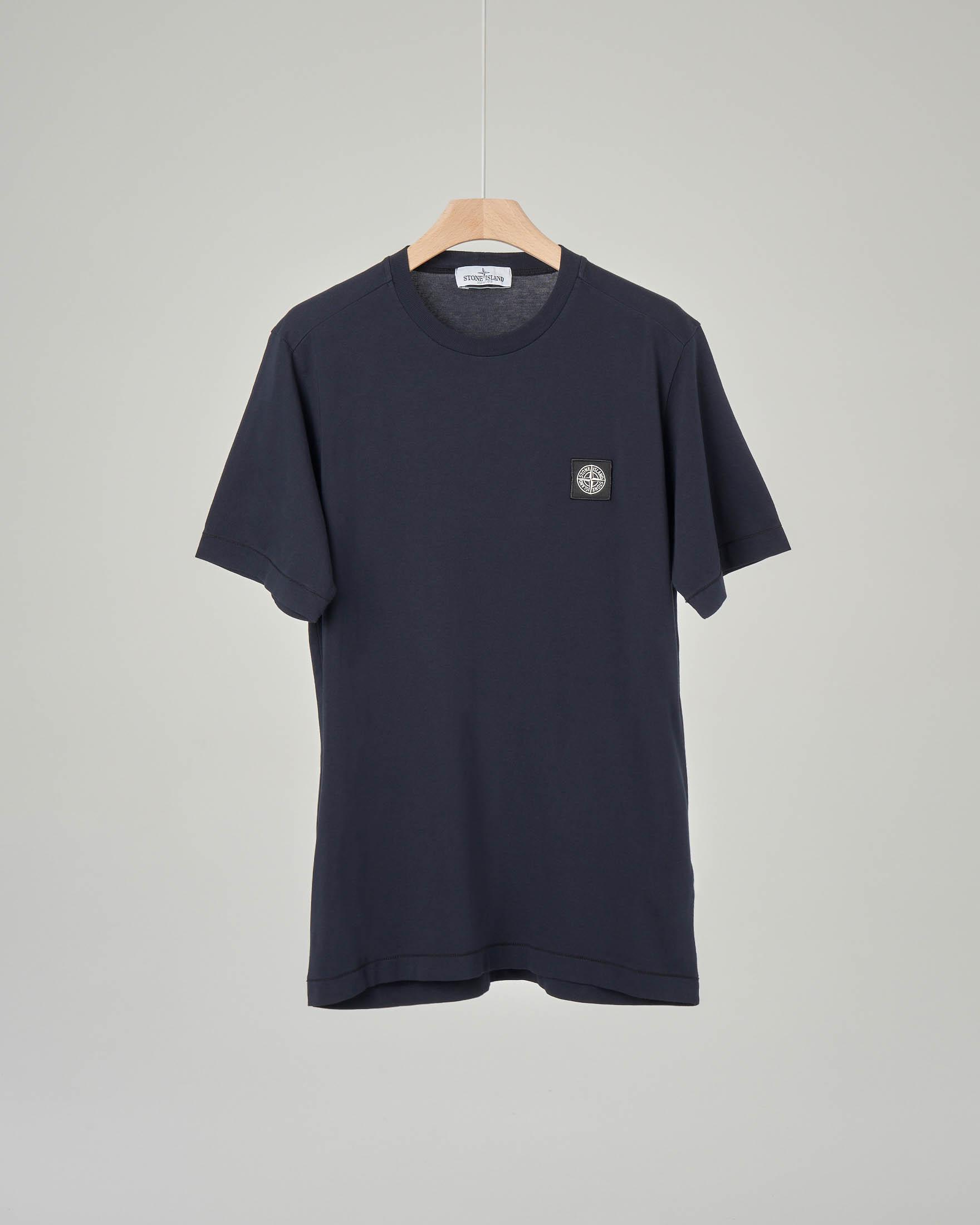 T-shirt blu con logo 6-8 anni