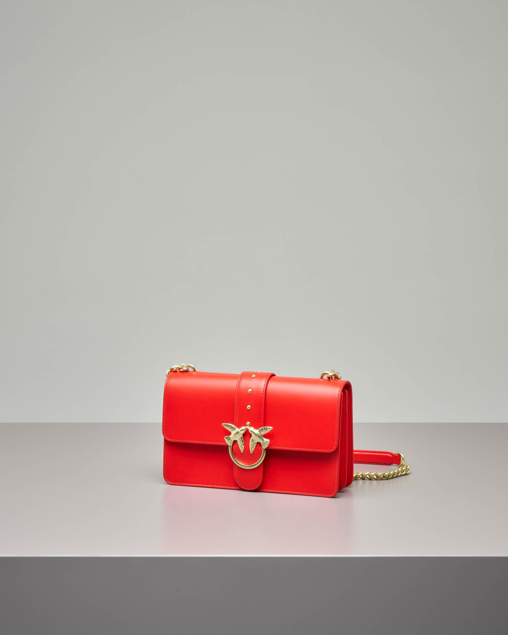 Love Bag rossa in vera pelle