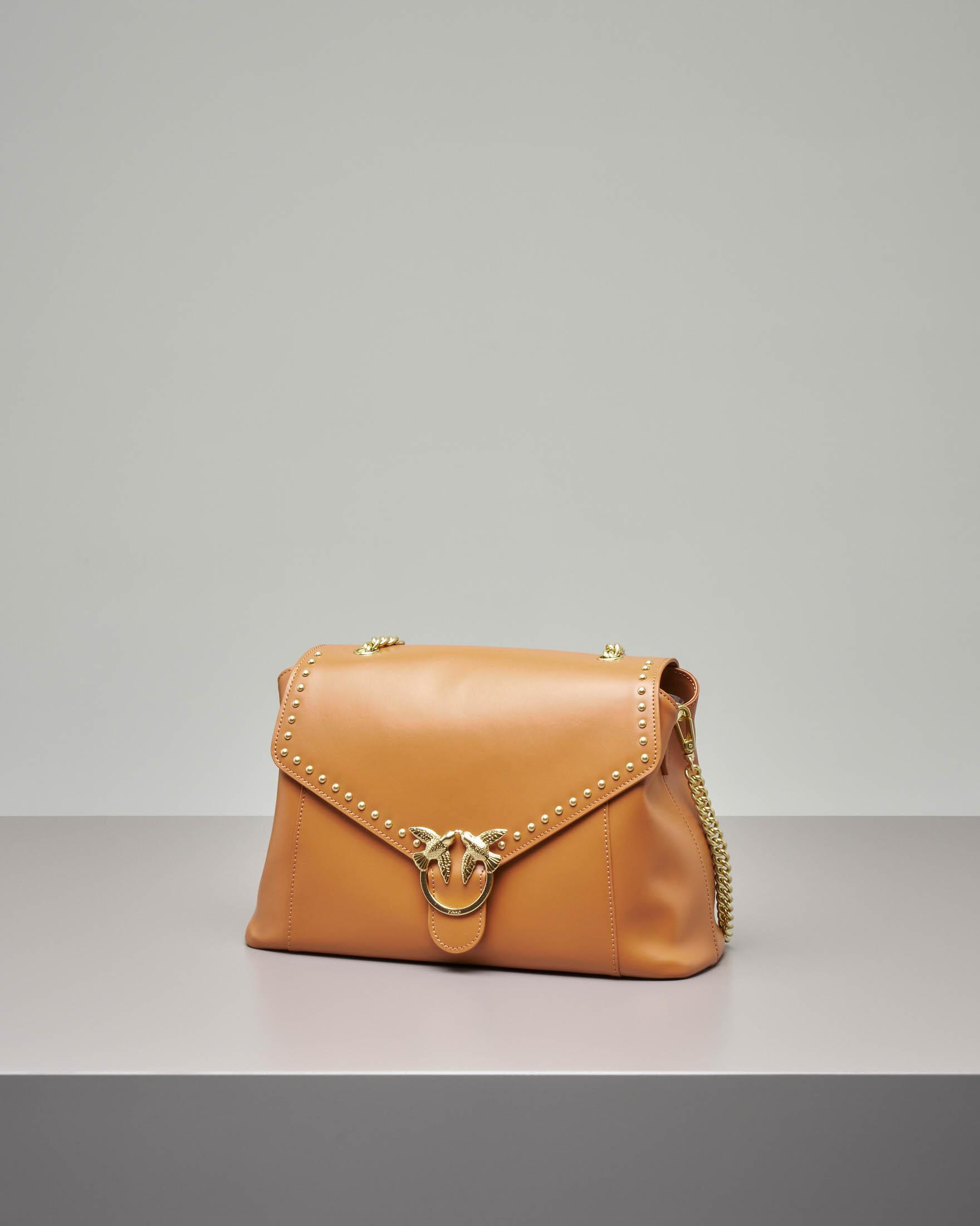 Abbondanza bag in pelle color cuoio · Pinko 81942de5b21
