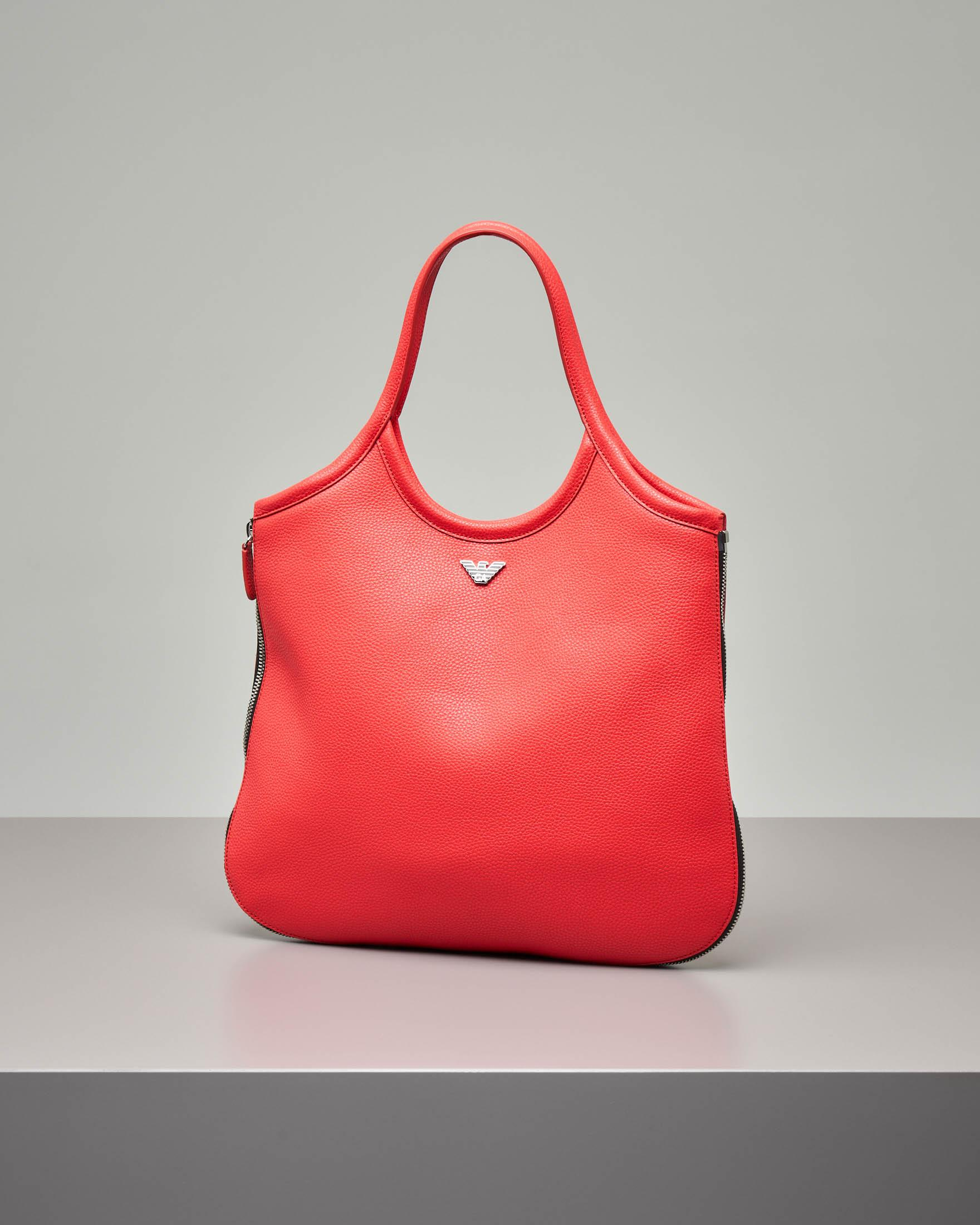 Borsa hobo in pelle rossa