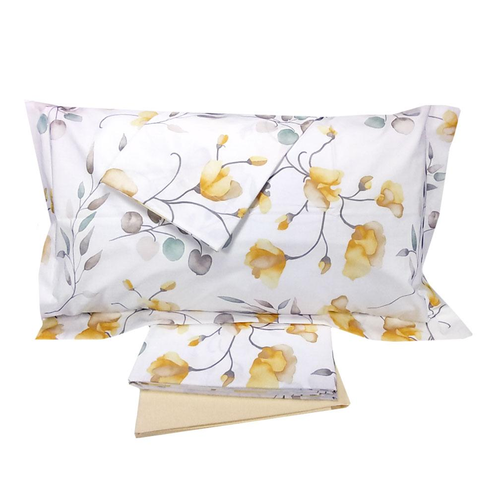 Lenzuola Matrimoniali Maxi Gabel.Gabel Memory Double Bed Sheet Set In Floral Percale