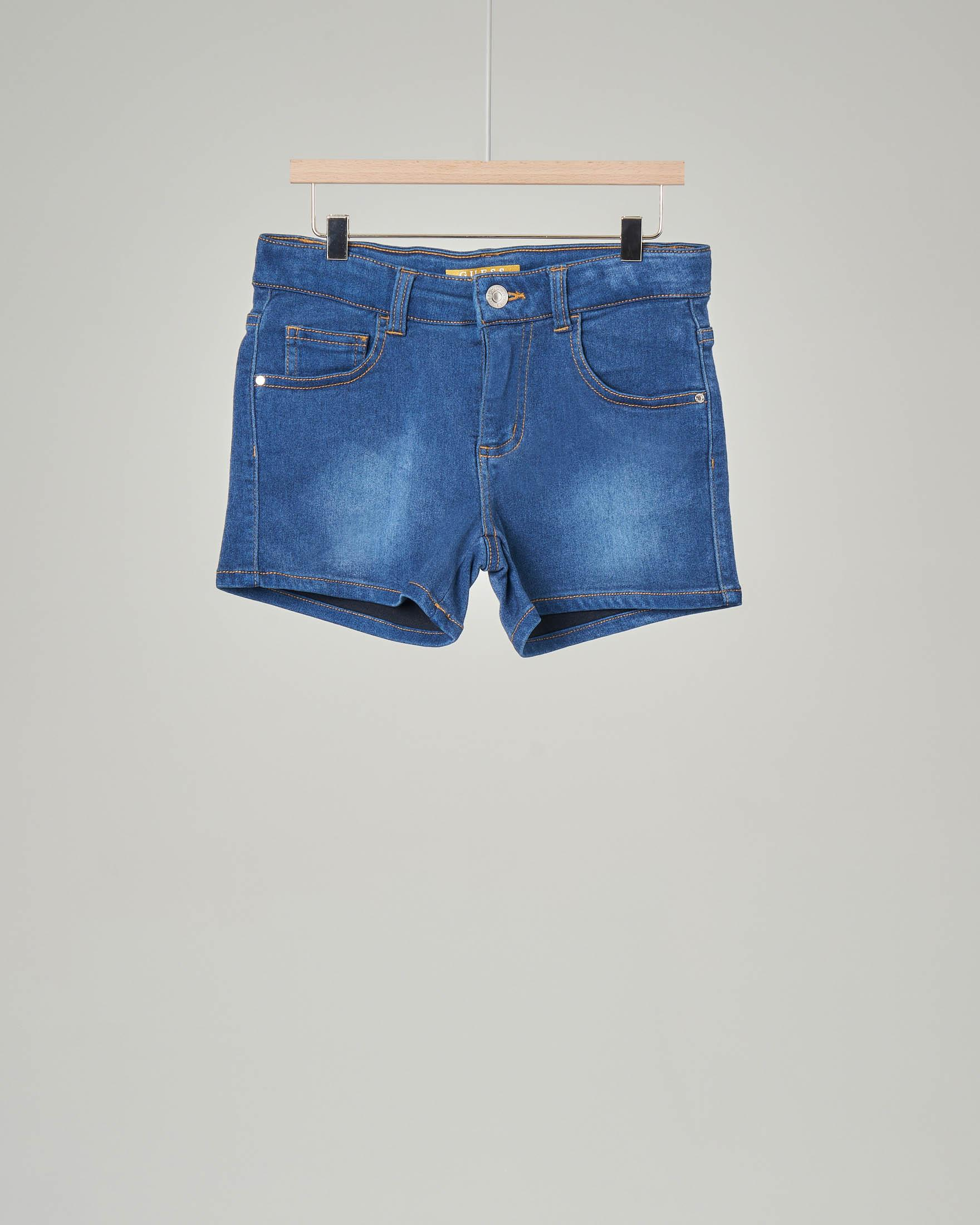 Short in denim blu