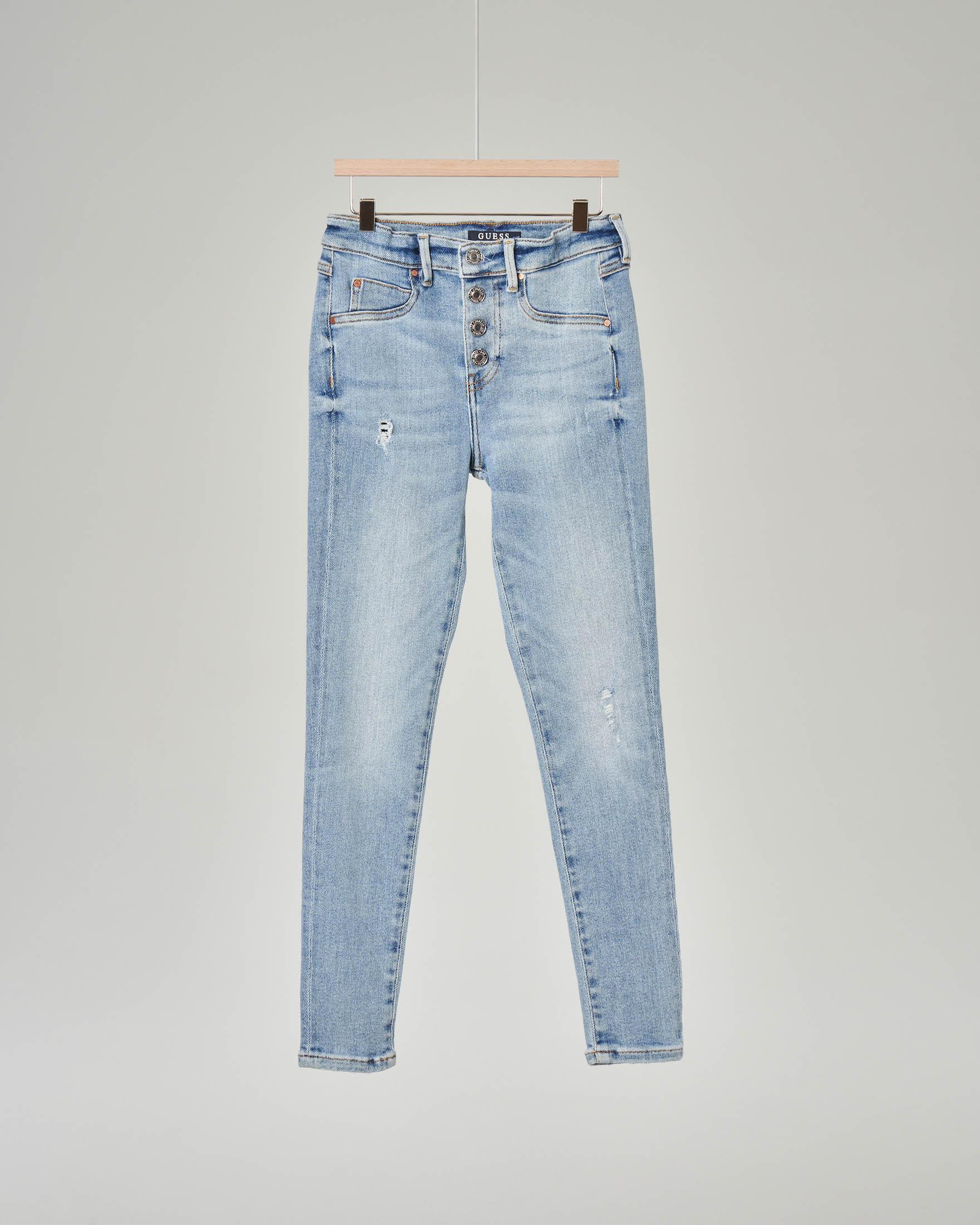 Jeans a vita alta blu chiaro